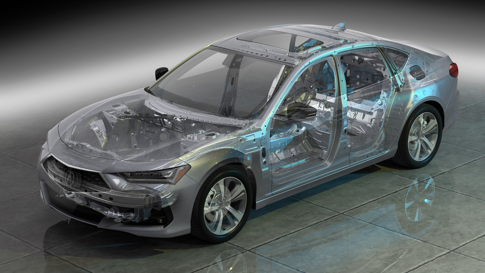 2021 Acura TLX ghosted view