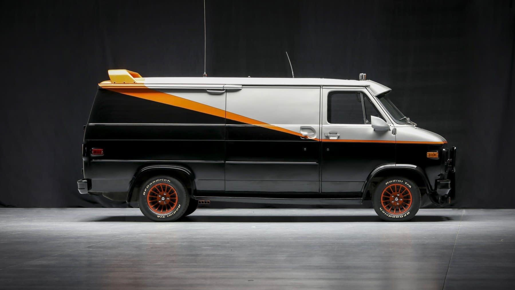 """Officially licensed """"A-Team"""" van (Photo by Worldwide Auctioneers)"""
