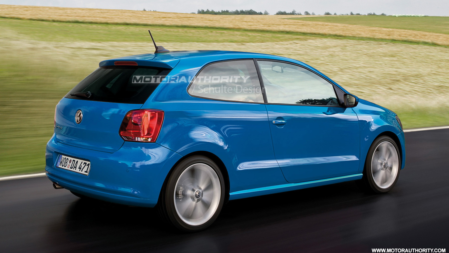 2010 volkswagen polo 3 door preview rendering 002