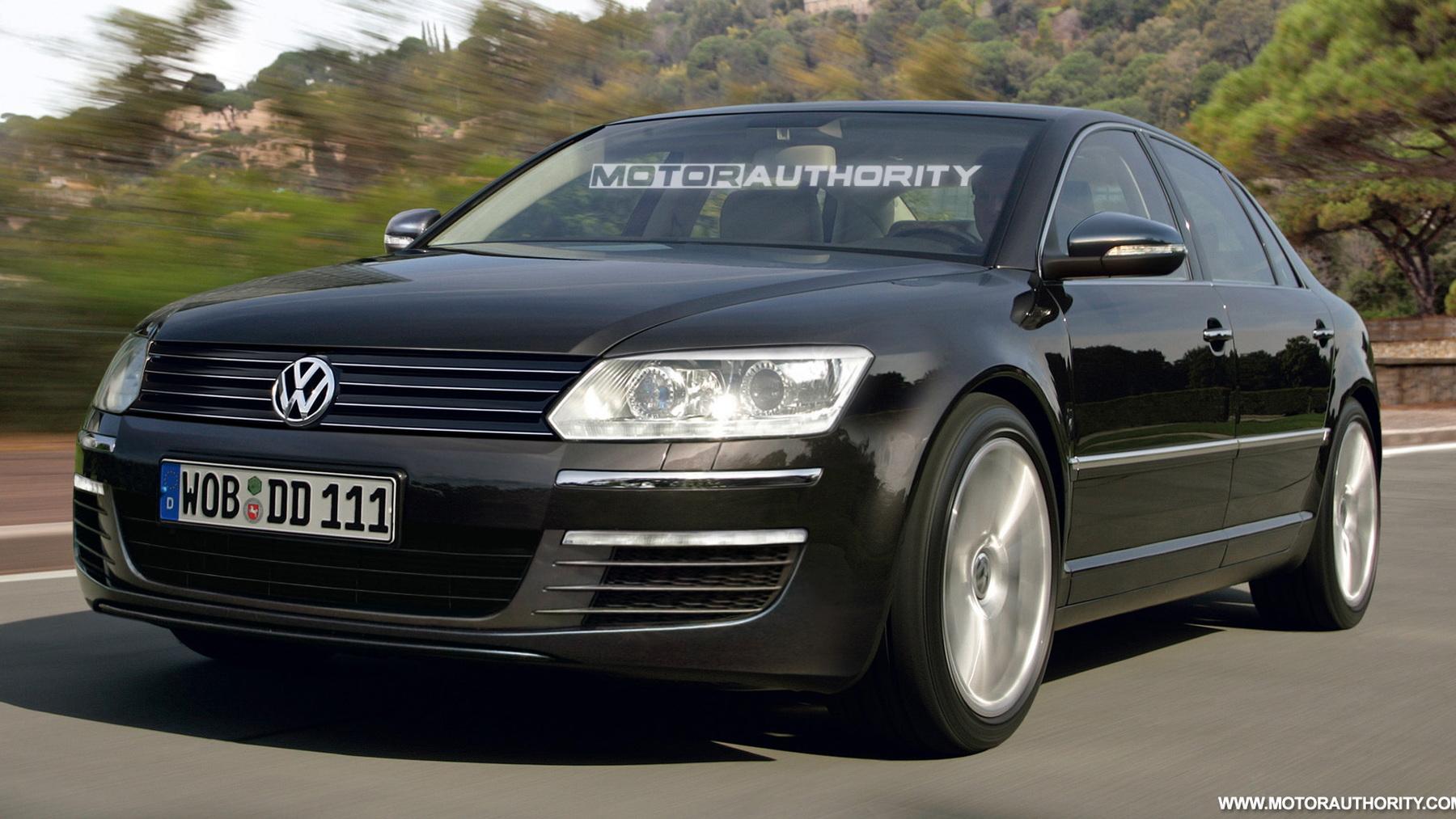 2011 volkswagen phaeton facelift preview rendering 001