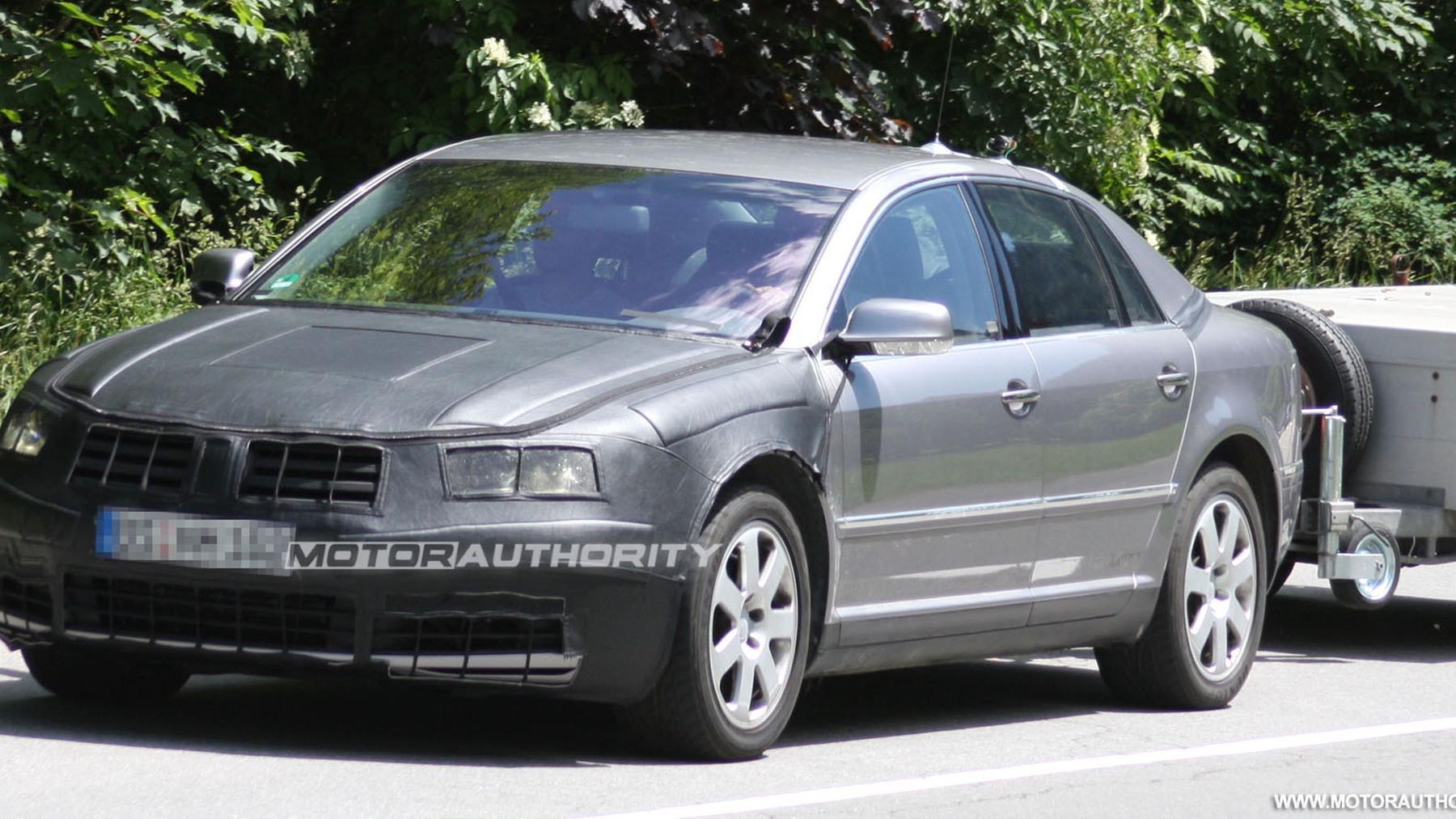 2011 volkswagen phaeton facelift spy shots june 001