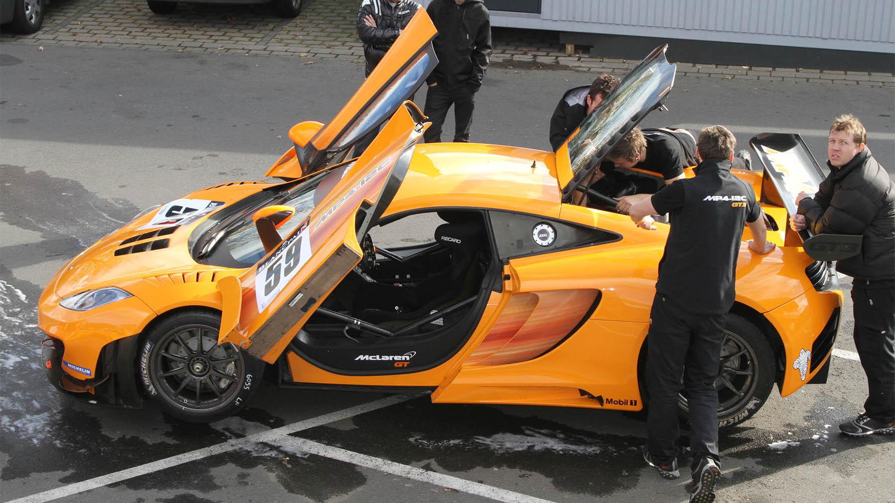 McLaren MP4-12C GT3 race car at the Nurburgring