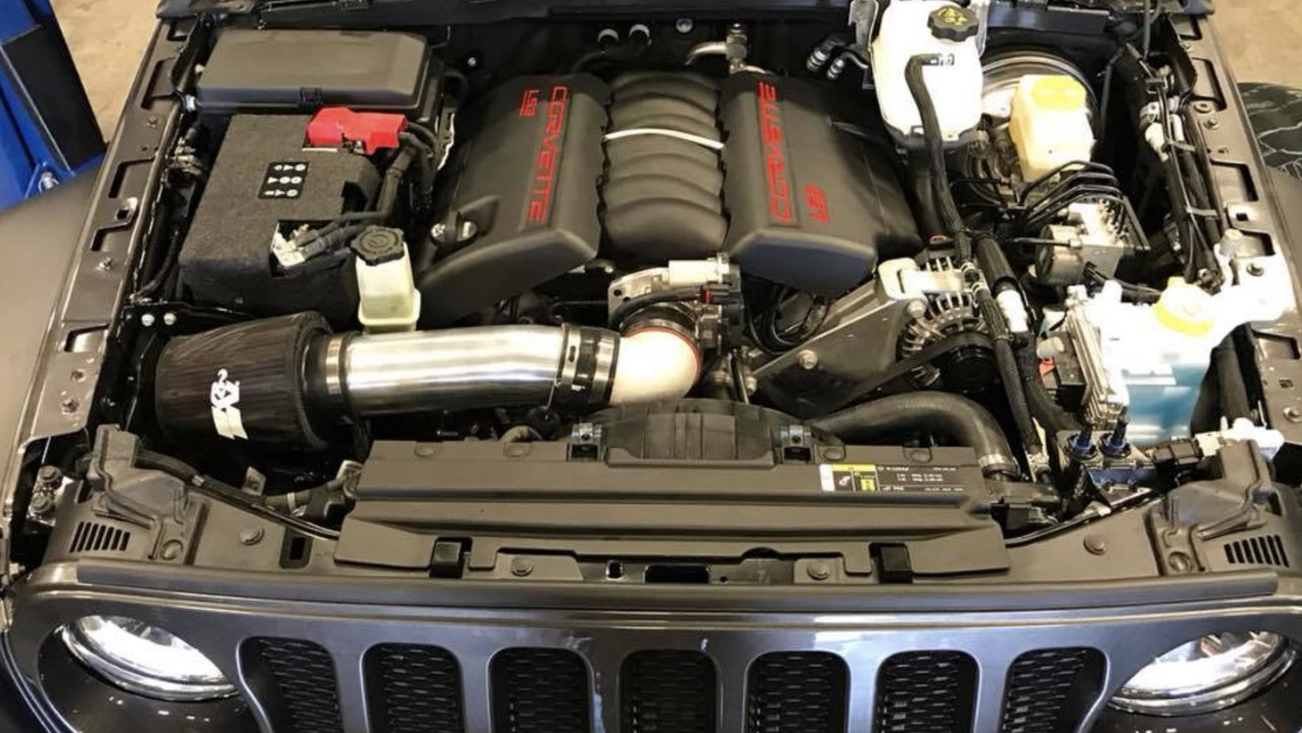 2018 Jeep Wrangler LS V-8 swap by Bruiser Conversions