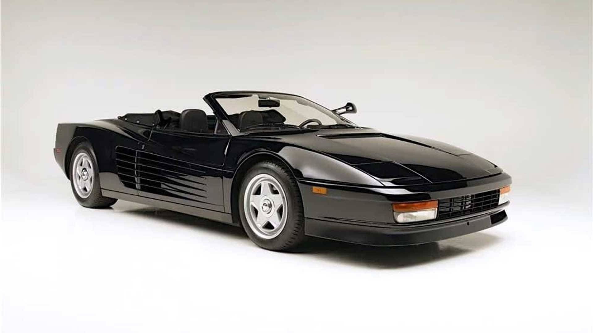 1986 Ferrari Testarossa convertible built for Michael Jackson commercial
