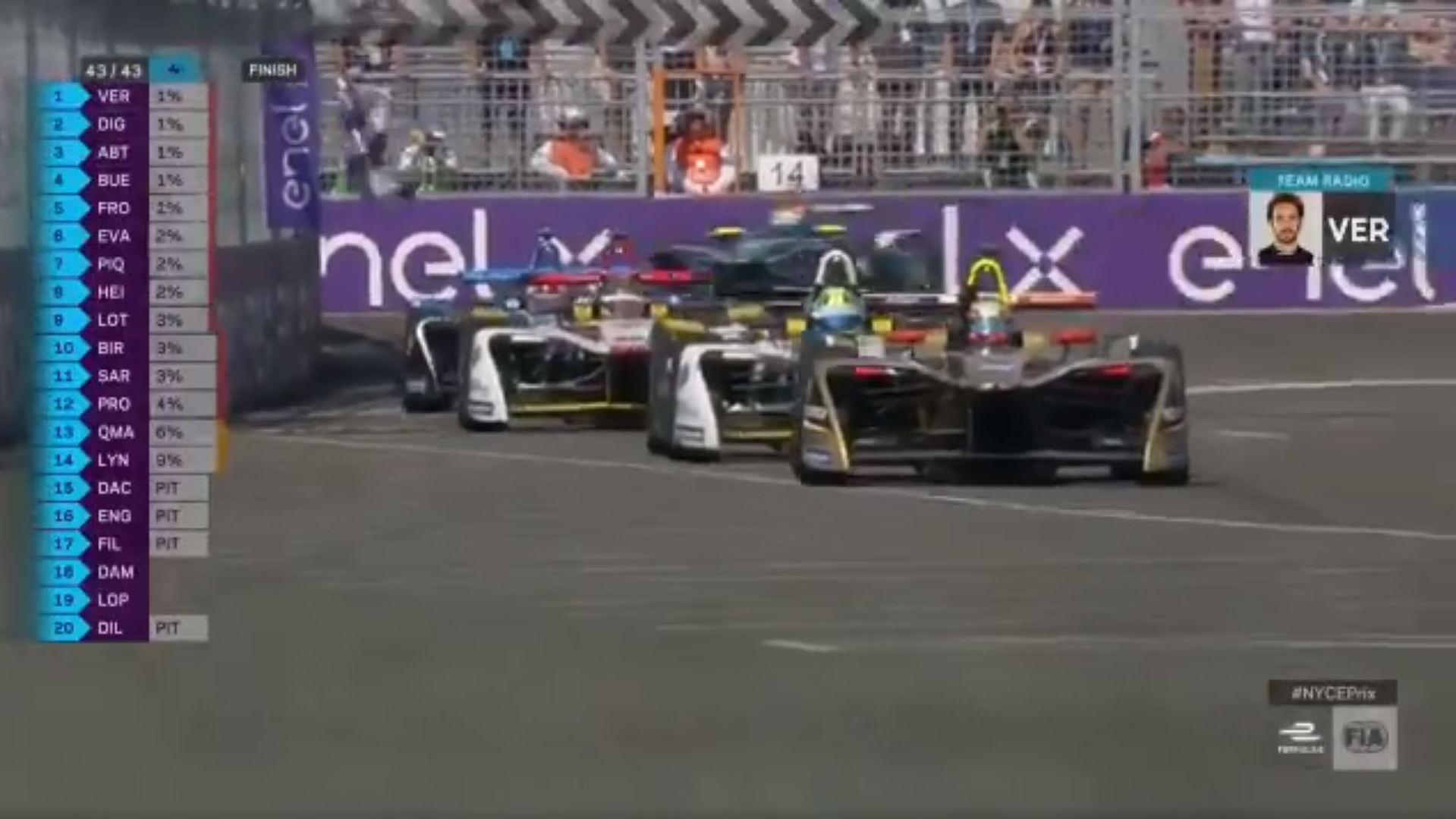 2018 Formula-E race finish, Brooklyn, NY