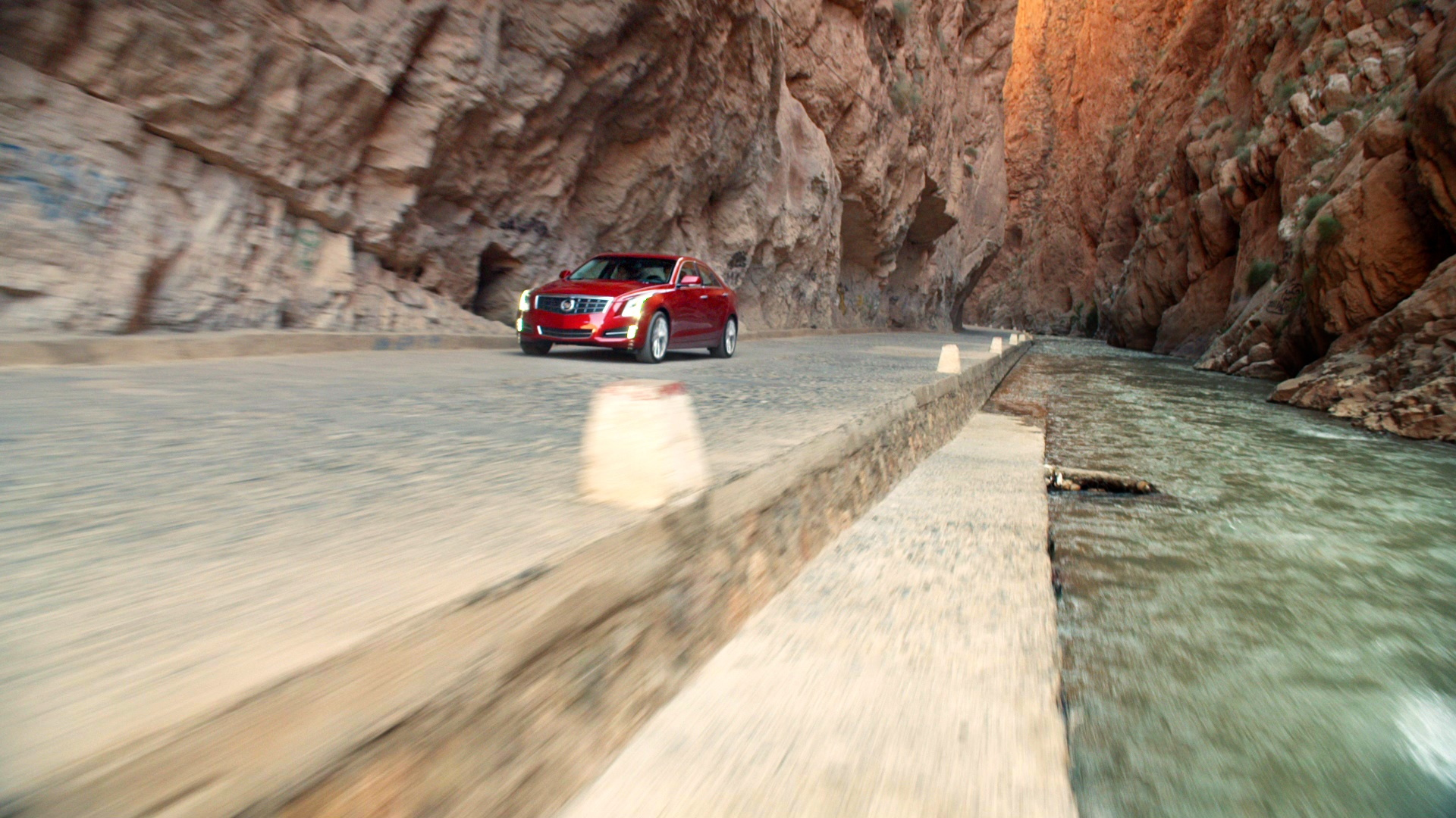Still images from Cadillac ATS vs The World