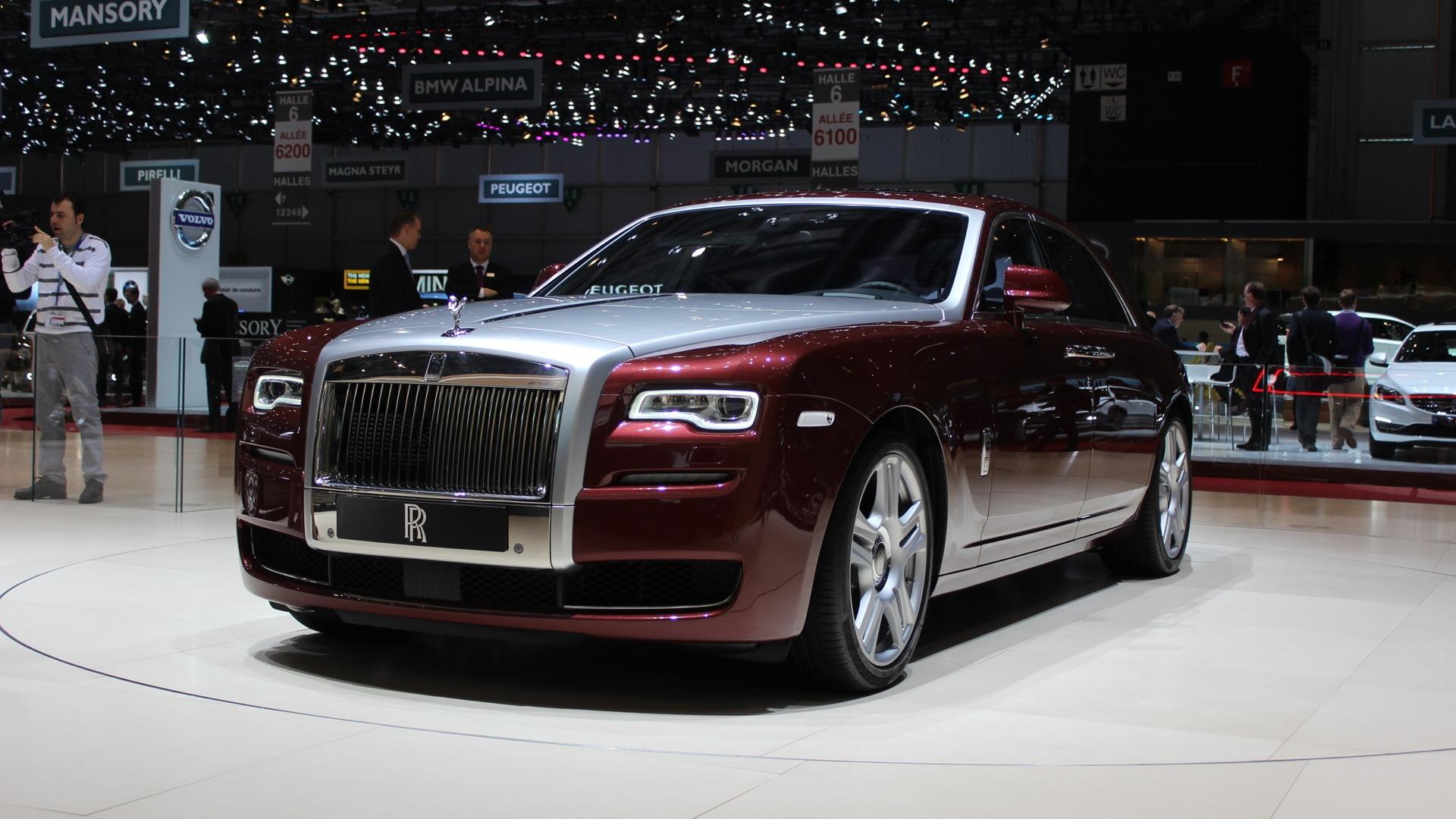 2015 Rolls-Royce Ghost Series II  -  2014 Geneva Auto Show live photos