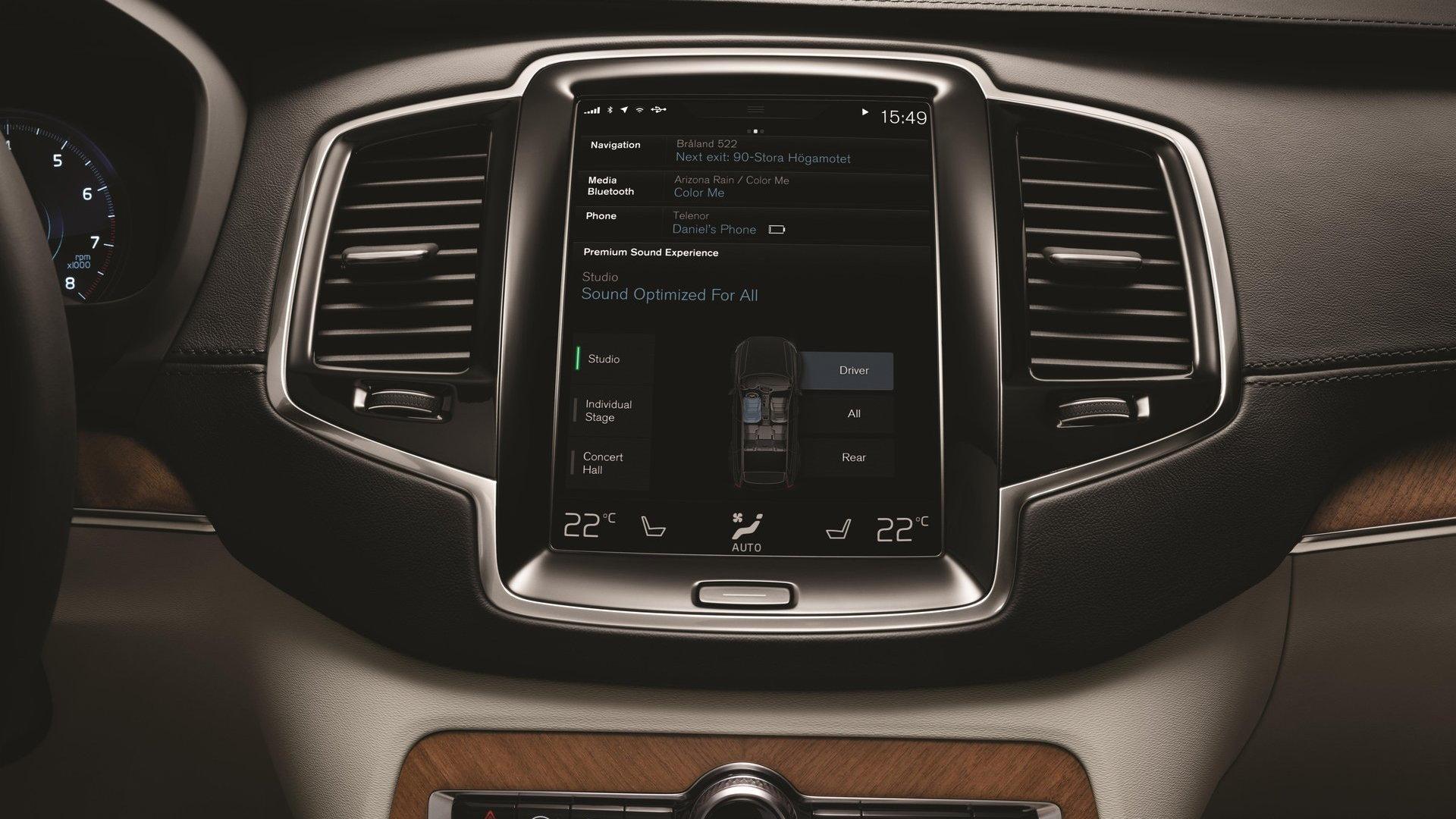 Volvo Sensus infotainment system  -  in 2016 Volvo XC90