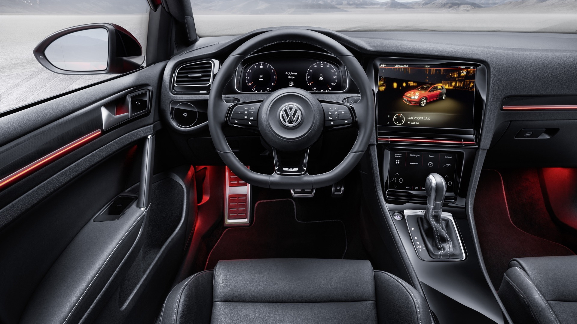 Volkswagen Golf R Touch concept, 2015 Consumer Electronics Show