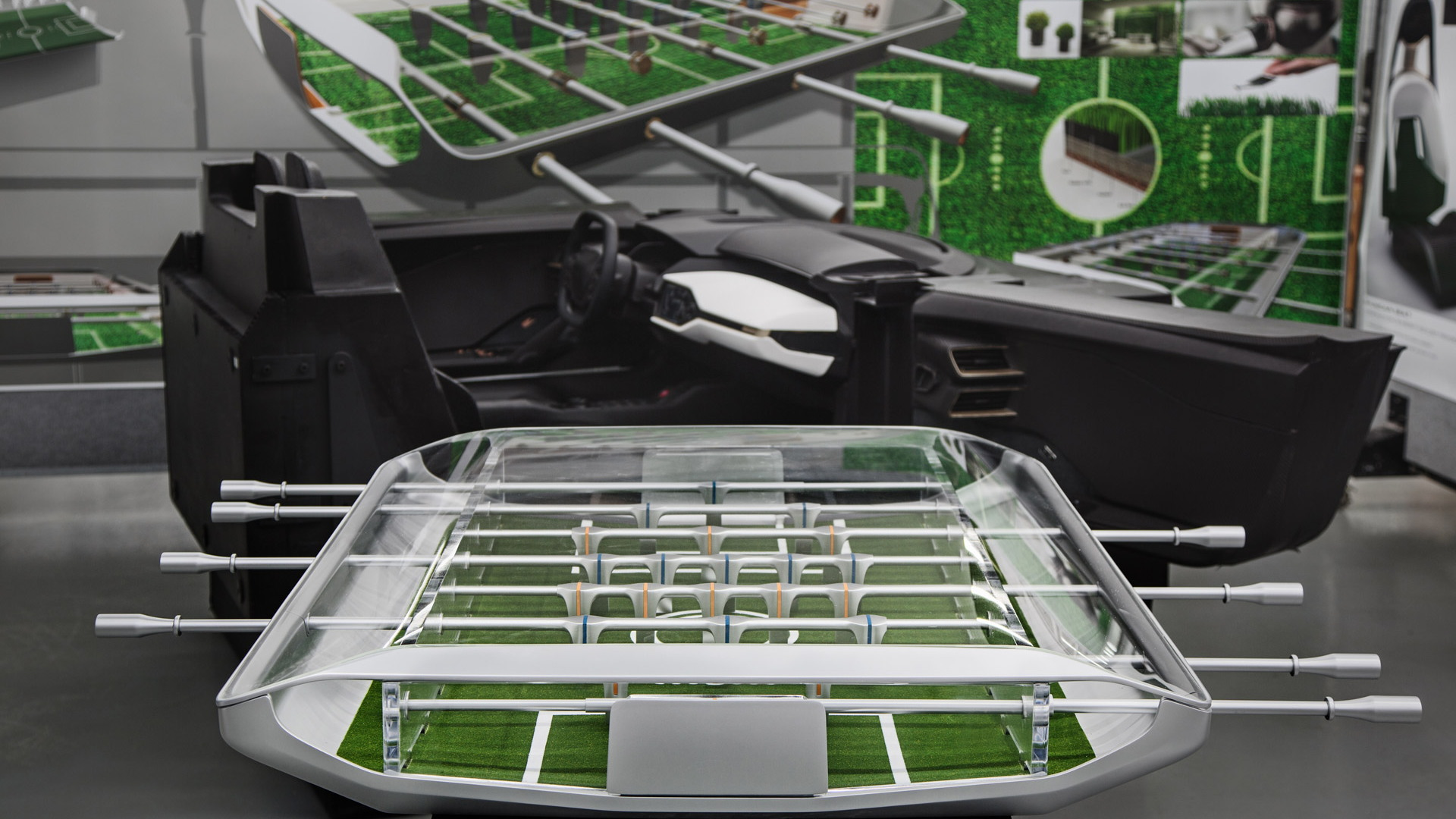 Foosball table inspired by new Ford GT supercar