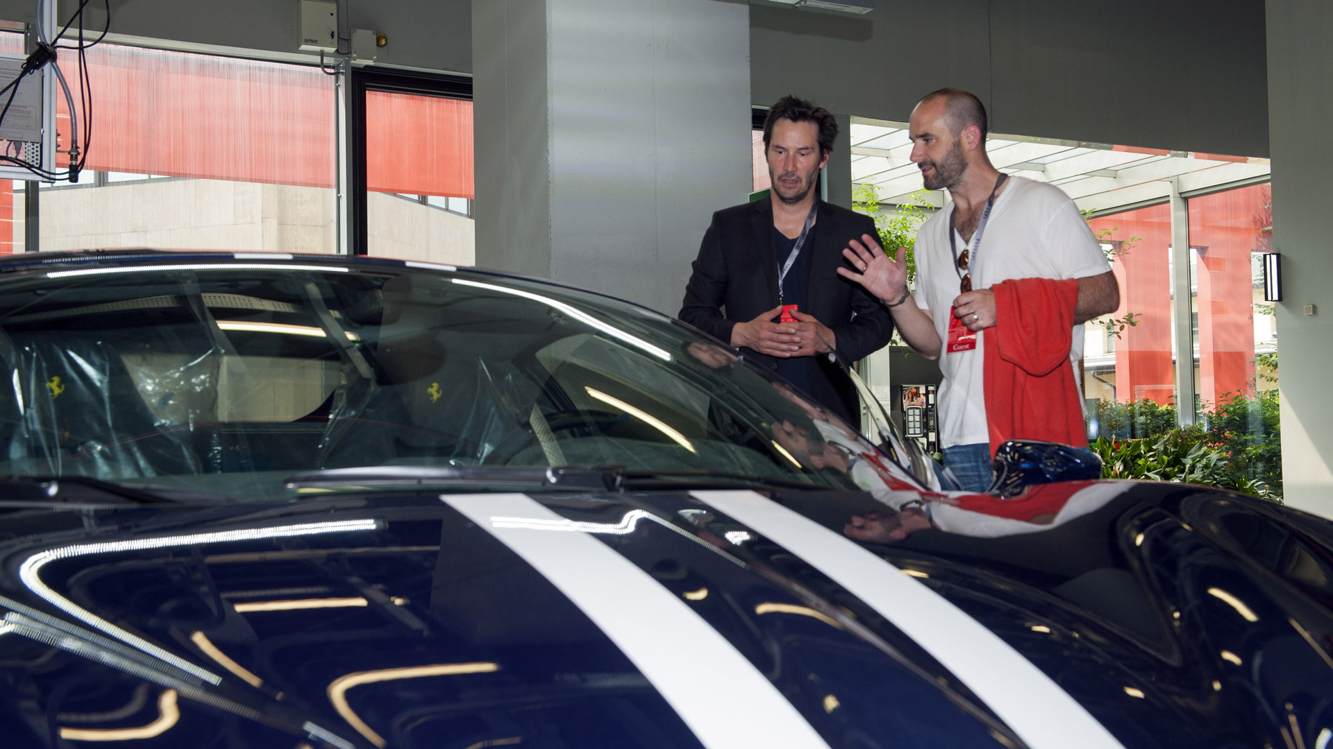 Keanu Reeves at Ferrari headquarters in Maranello, Italy - June 2015