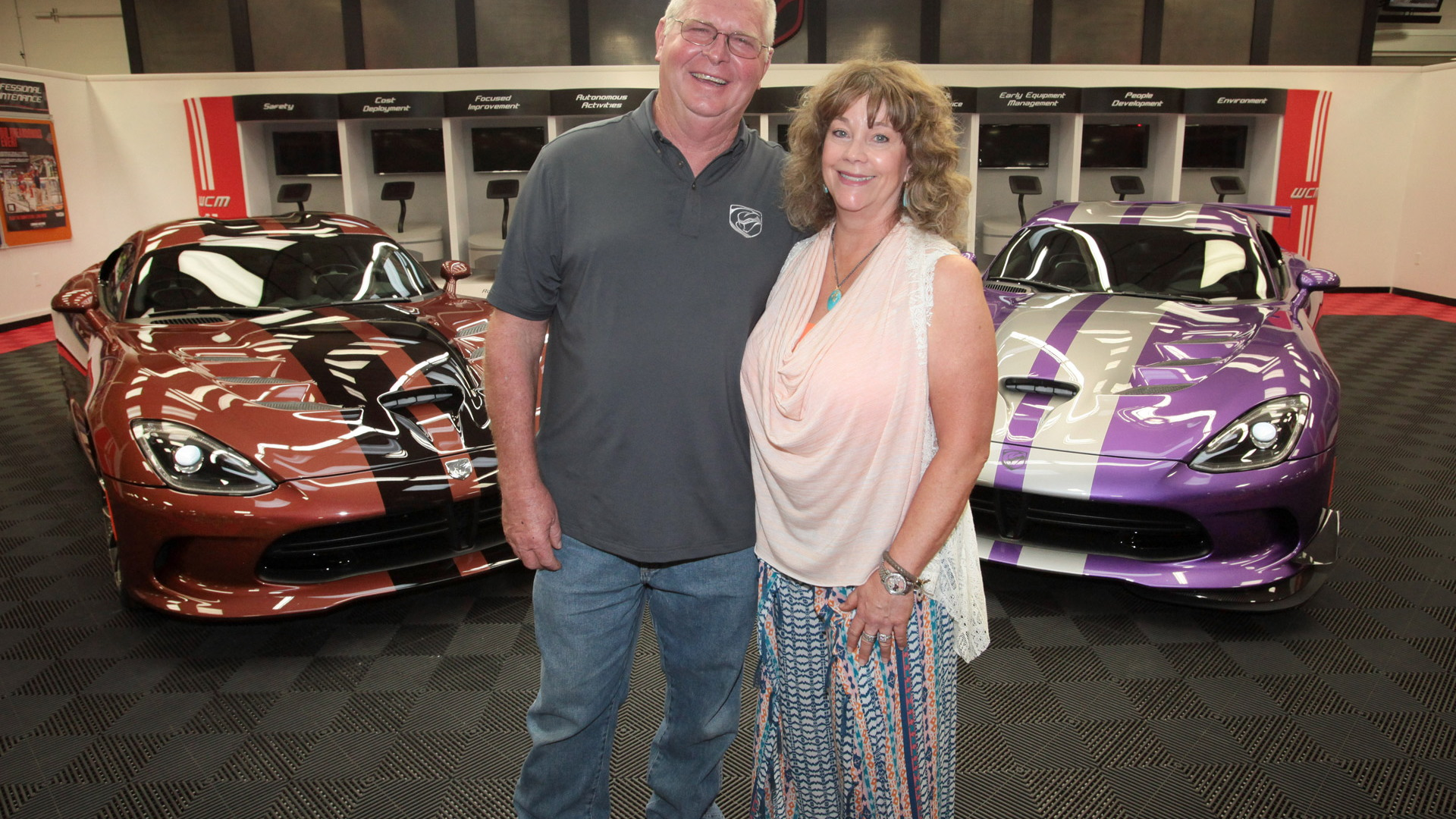 Wayne Rauh and wife D'Ann take delivery of their their 78th and 79th Dodge Vipers
