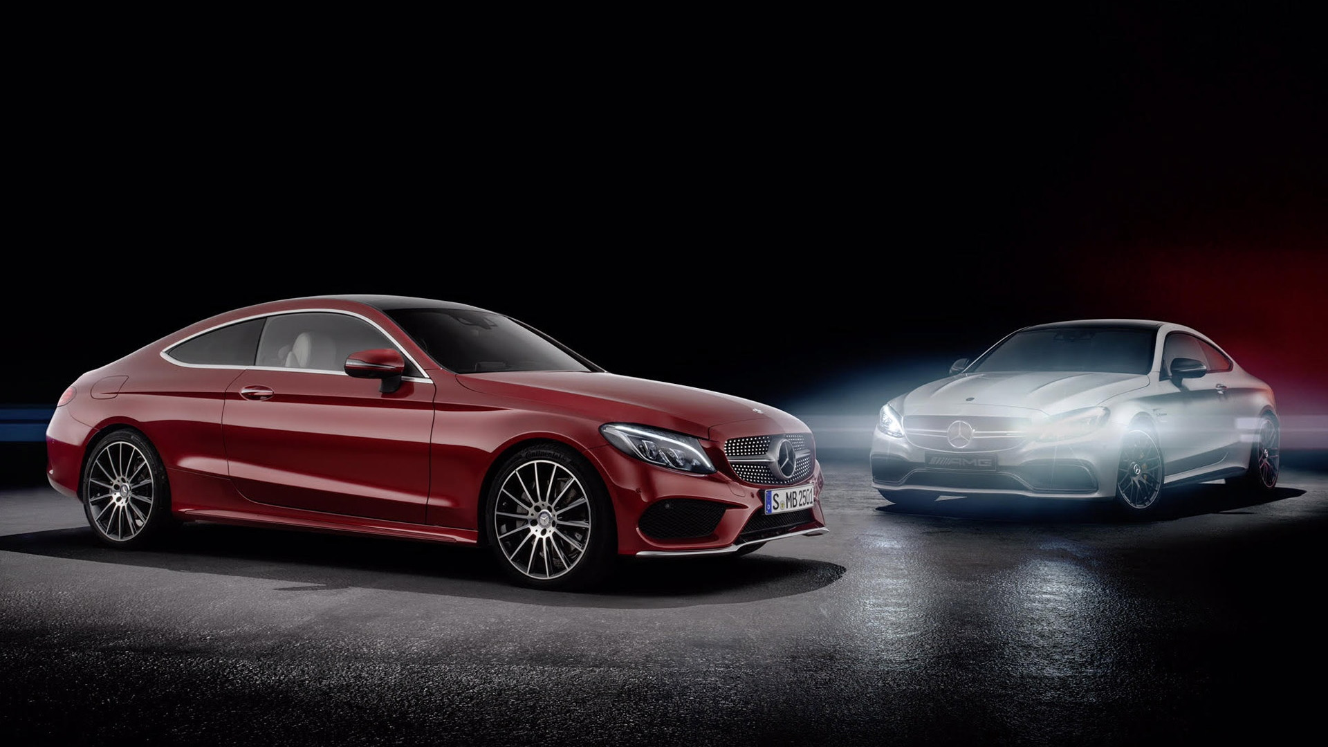 2017 Mercedes-Benz C-Class Coupe and Mercedes-AMG C63 Coupe