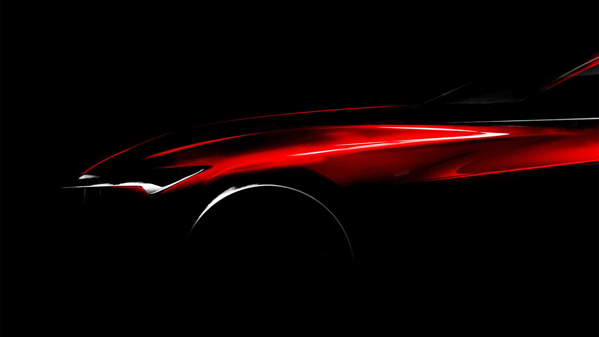 Teaser for Acura Precision concept debuting at 2016 Detroit Auto Show