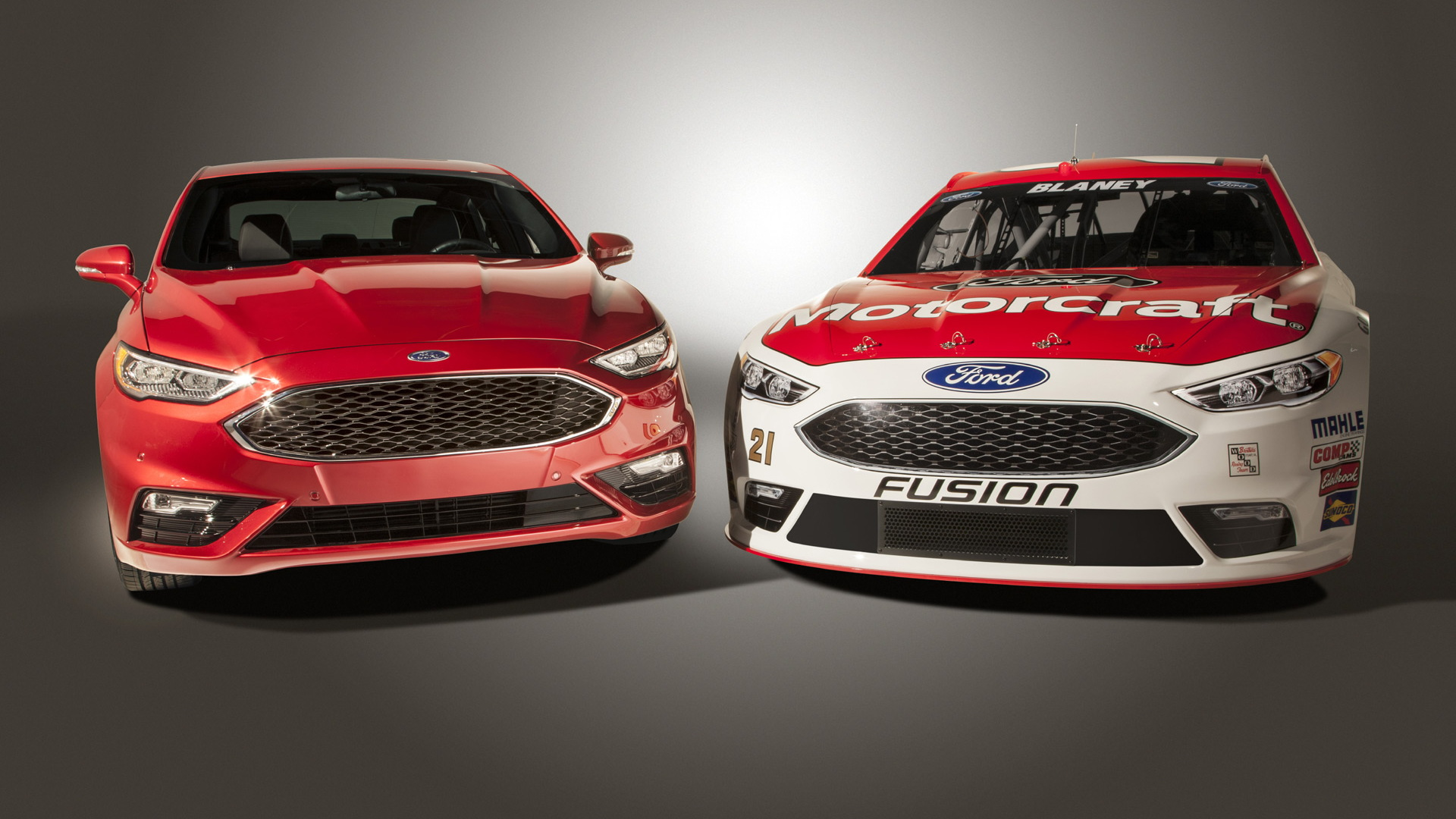 2017 Ford Fusion and 2016 Fusion NASCAR Sprint Cup race car