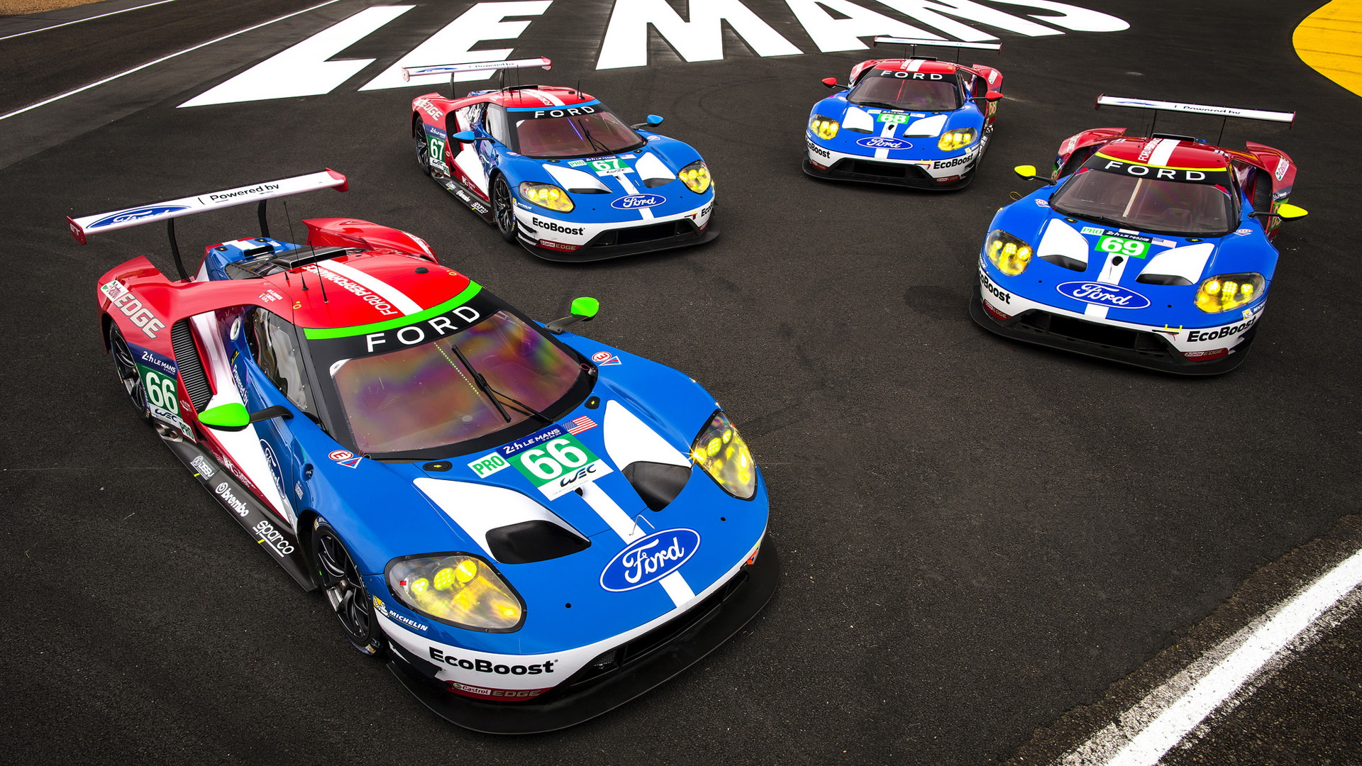 Ford GTs at the 2016 24 Hours of Le Mans