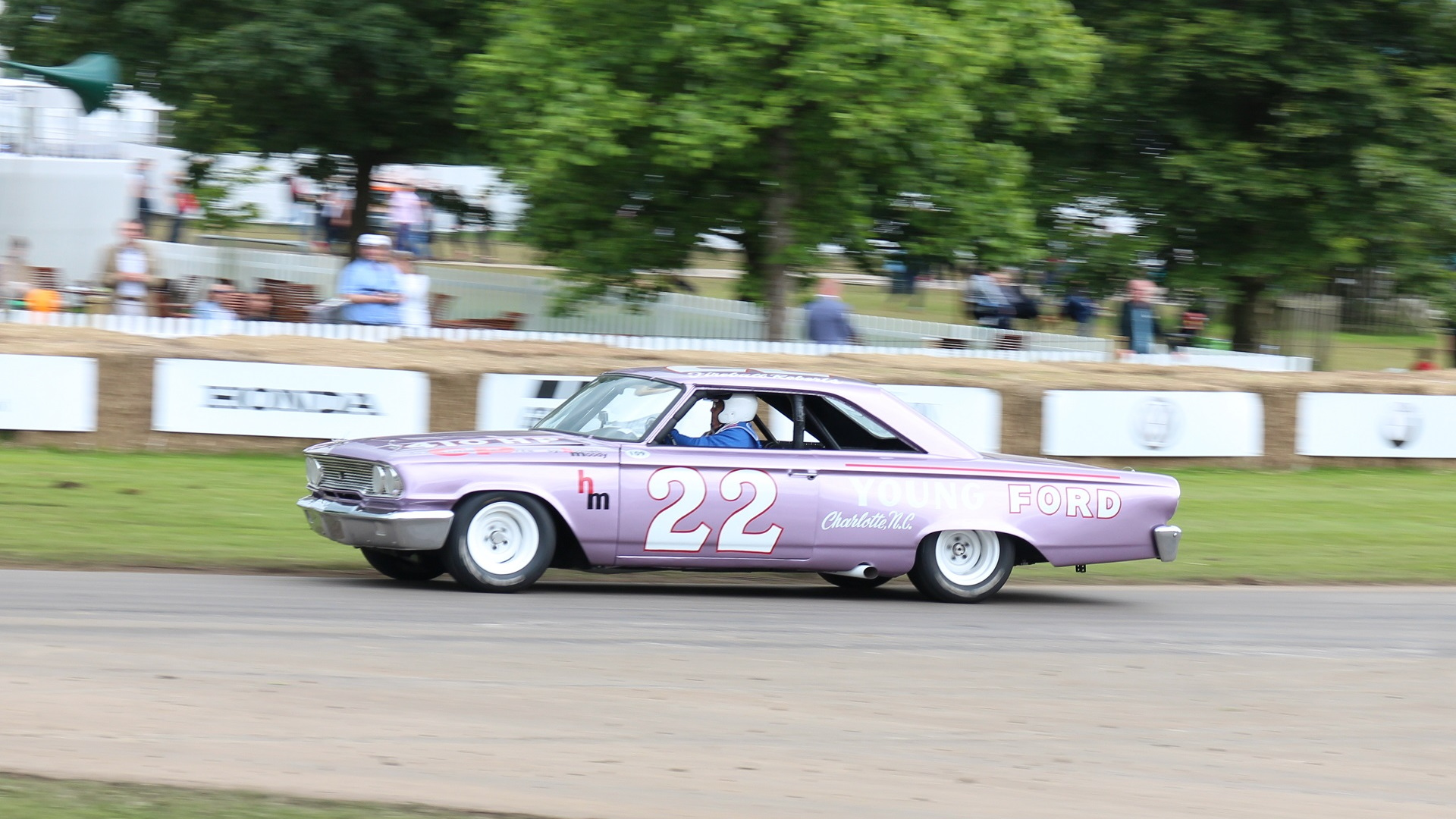 Ford Galaxie NASCAR racer, built by Holman-Moody, at 2016 Goodwood Festival of Speed