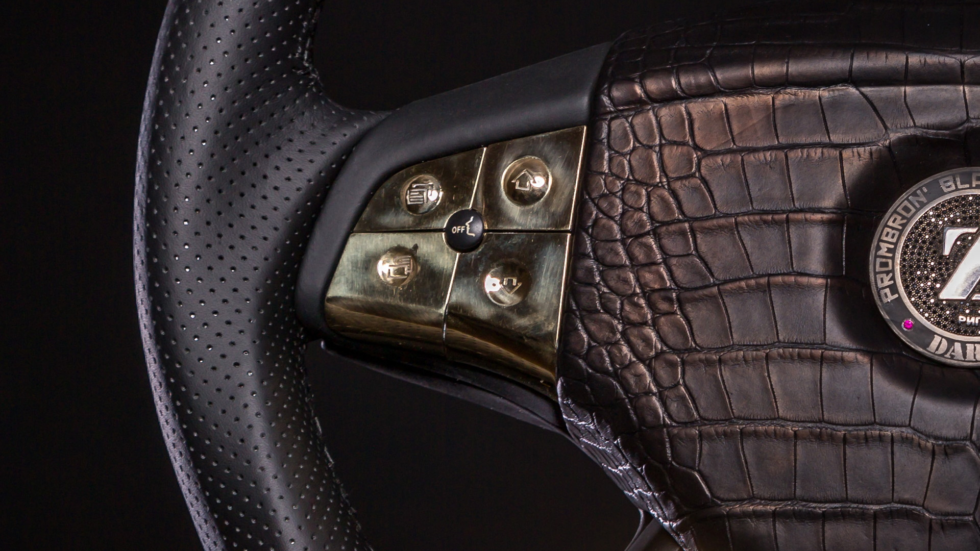World's most expensive steering wheel from Dartz Prombron Black Alligator