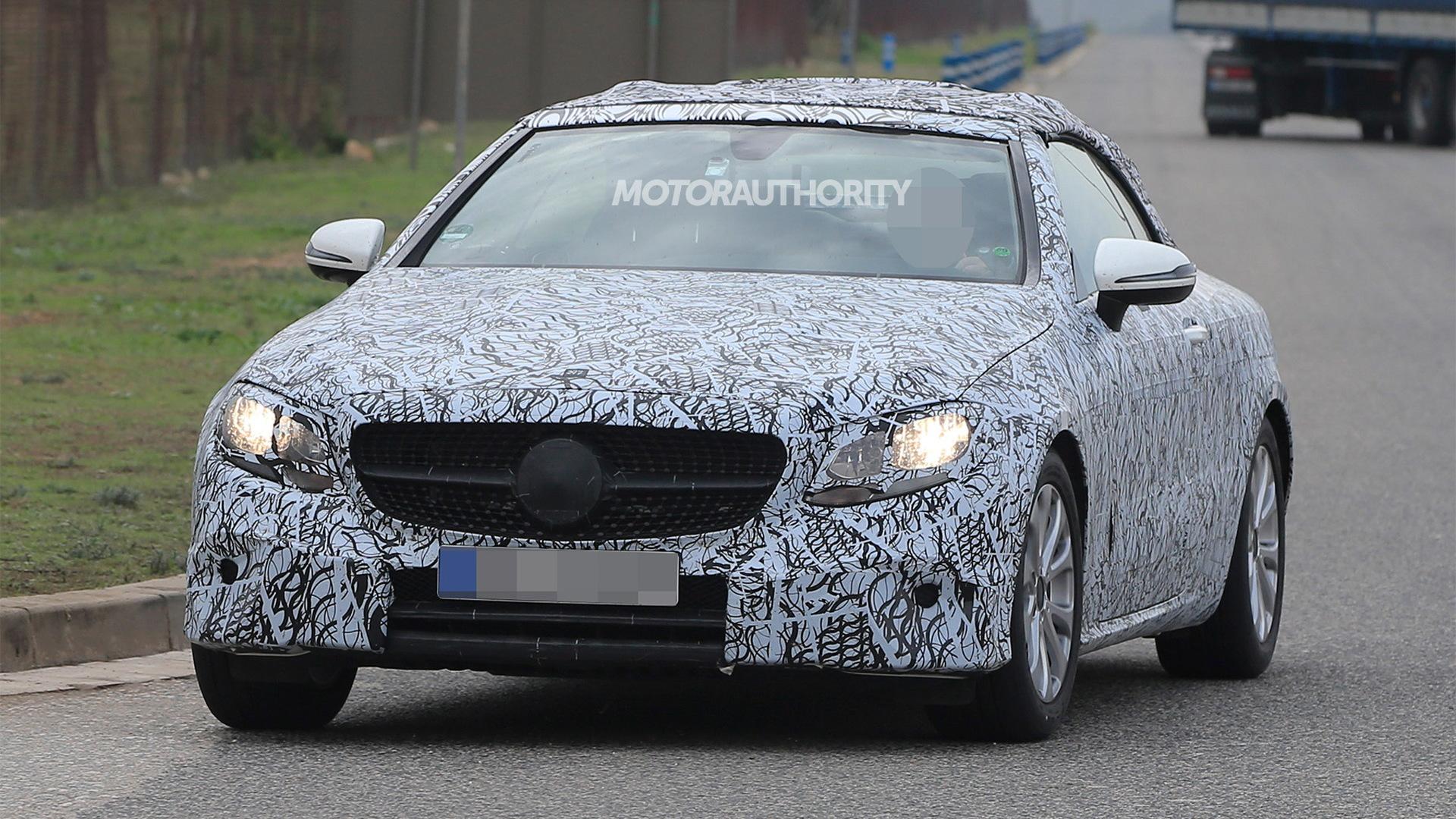 2018 Mercedes-Benz E-Class Cabriolet spy shots - Image via S. Baldauf/SB-Medien
