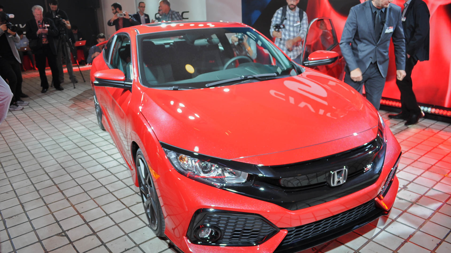 2017 Honda Civic Si Coupe prototype, 2016 Los Angeles auto show