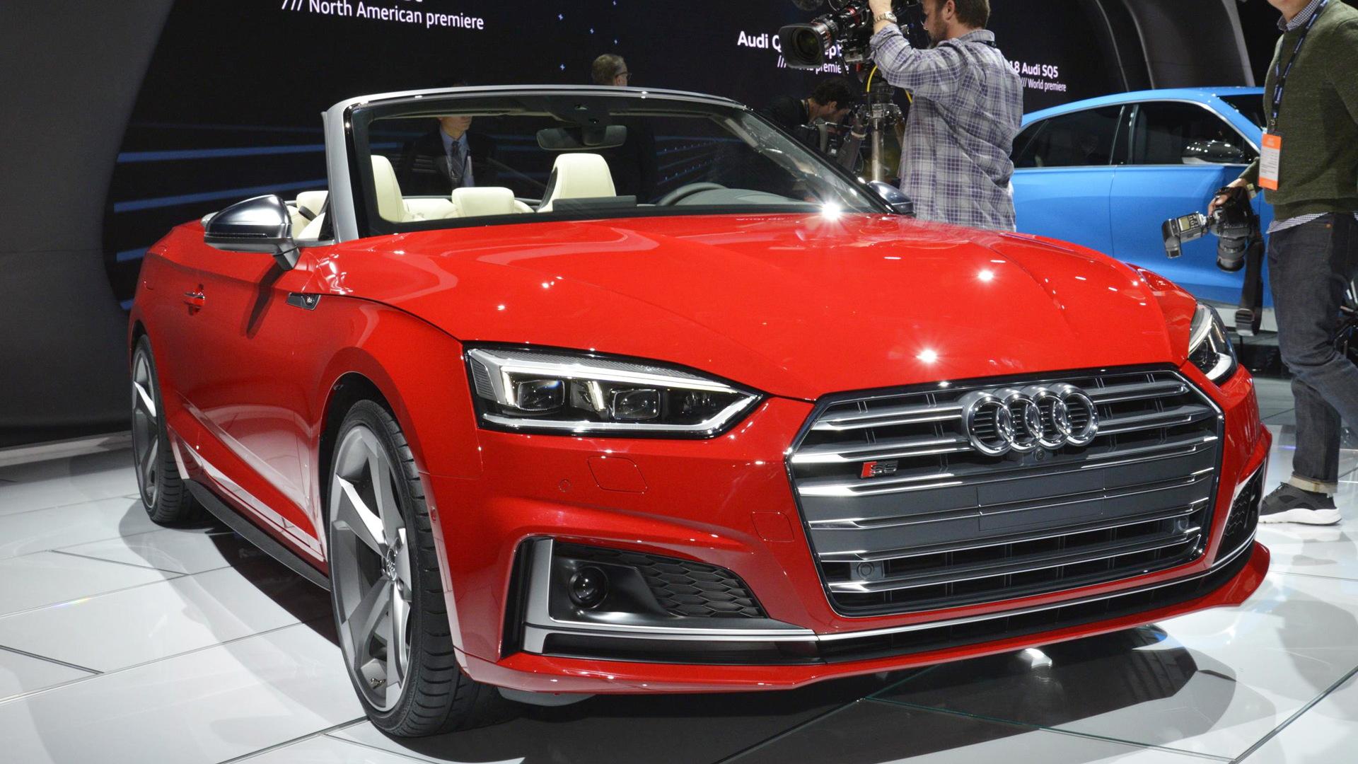 2018 Audi S5 Cabriolet, 2017 Detroit auto show