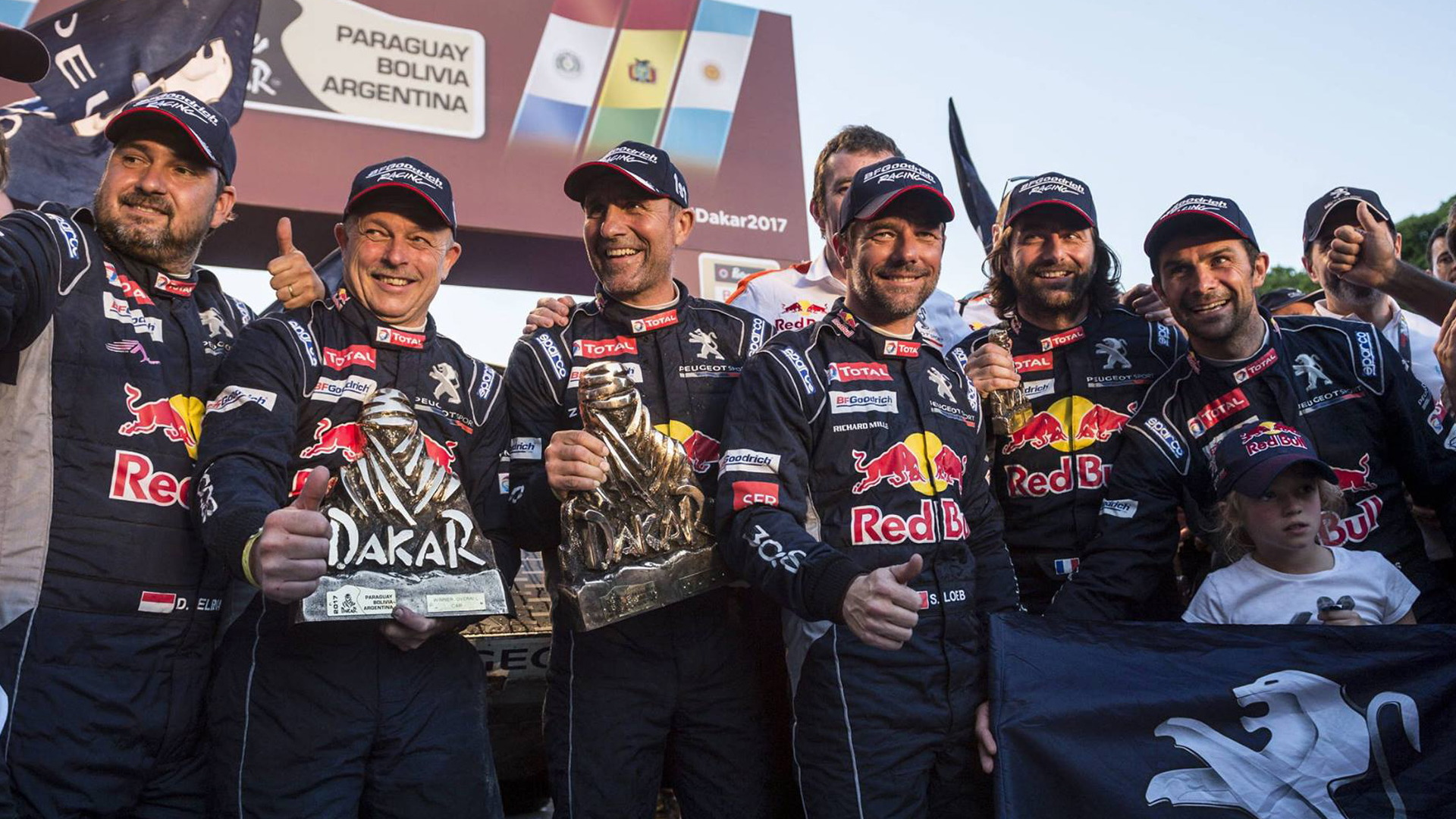 Peugeot one-two-three finish in the 2017 Dakar rally