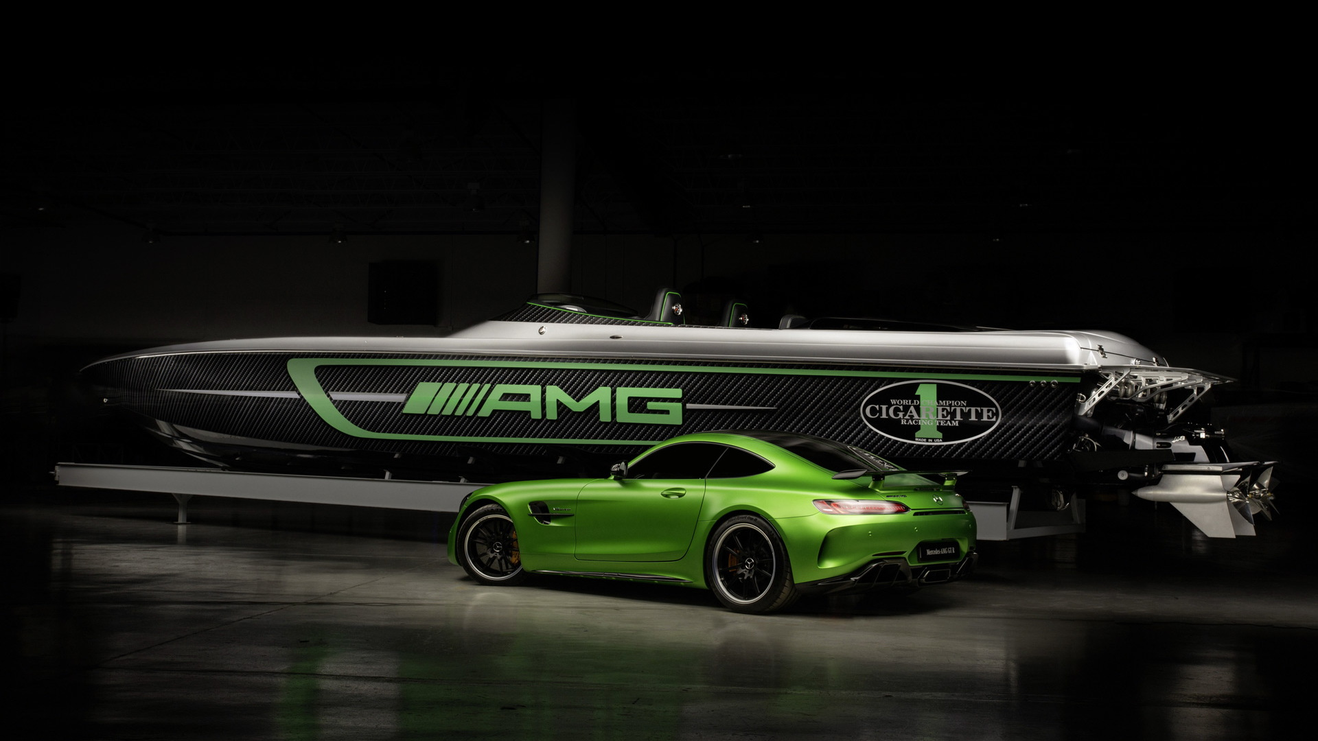 2017 Cigarette Racing 50' Marauder AMG inspired by the 2018 Mercedes-AMG GT R