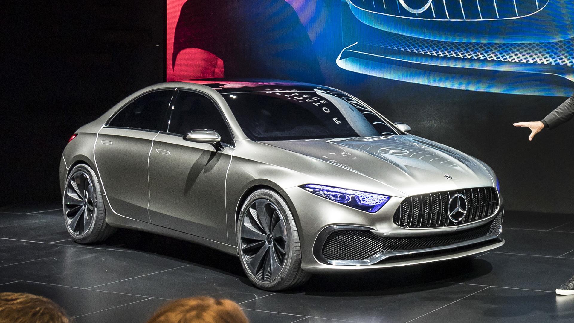 Mercedes-Benz A Sedan concept, 2017 Shanghai auto show