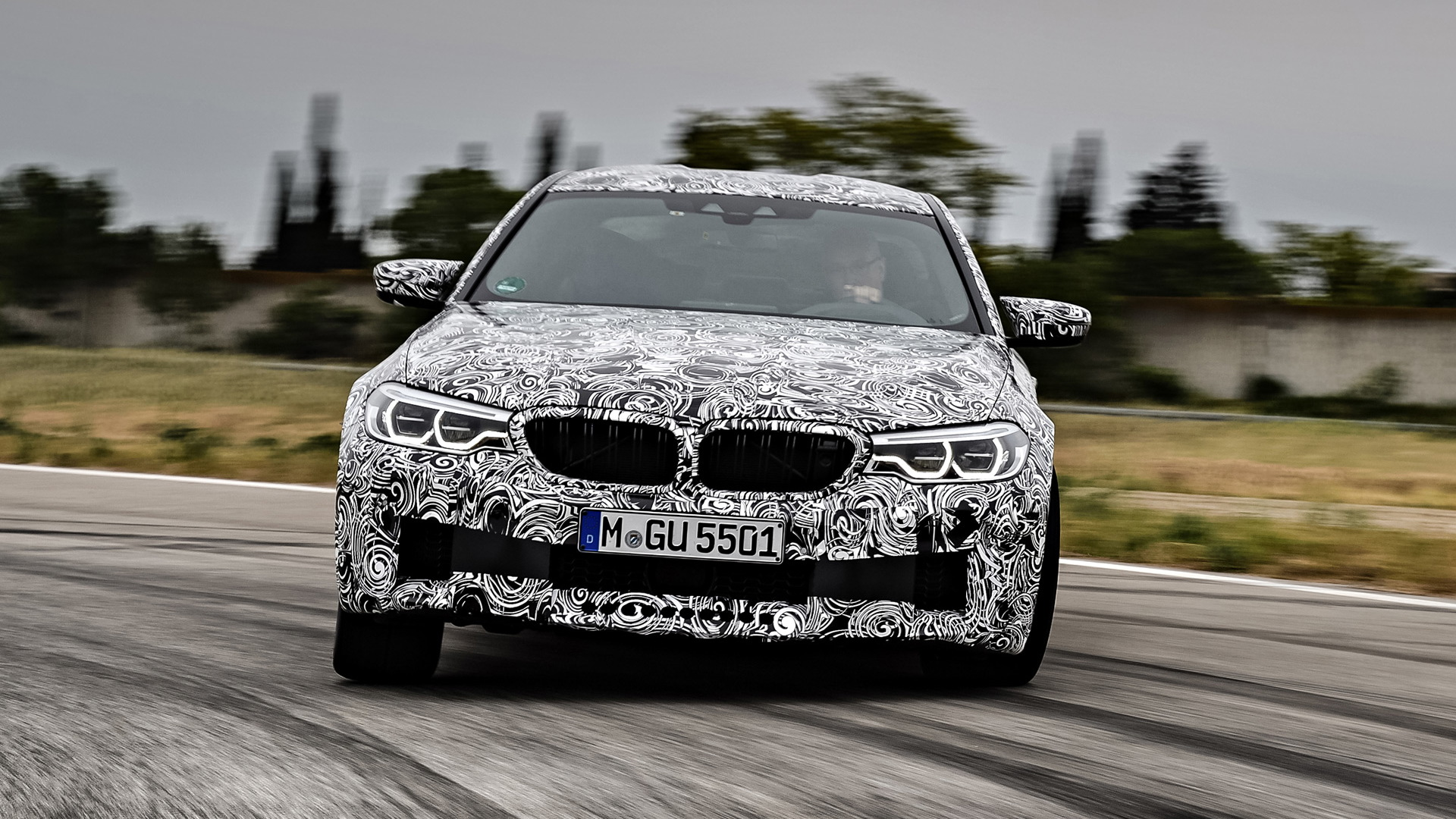 BMW M5 with m xDrive all-wheel-drive system