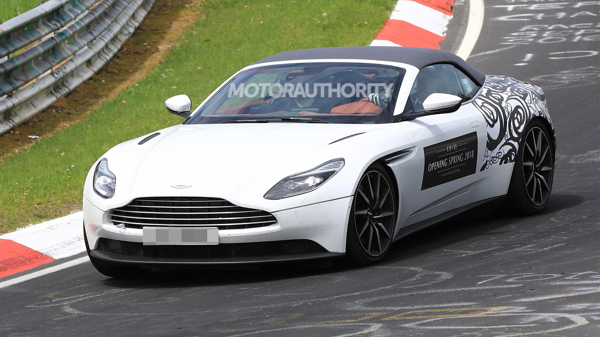 2018 Aston Martin DB11 Volante spy shots - Image via S. Baldauf/SB-Medien