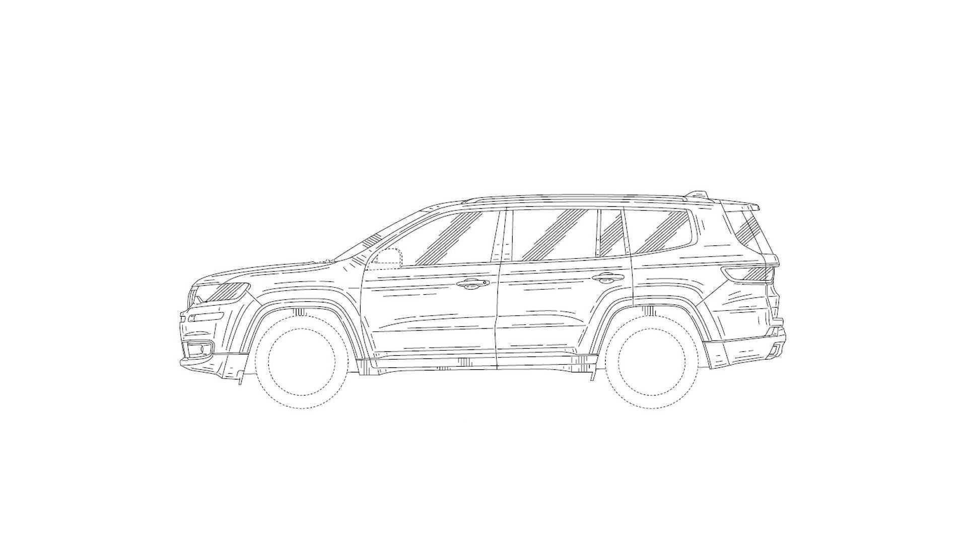 Jeep seven-seat SUV patent drawing