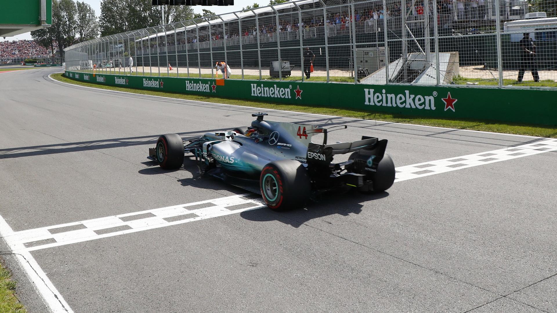 Mercedes AMG's Lewis Hamilton at the 2017 Formula One Canadian Grand Prix