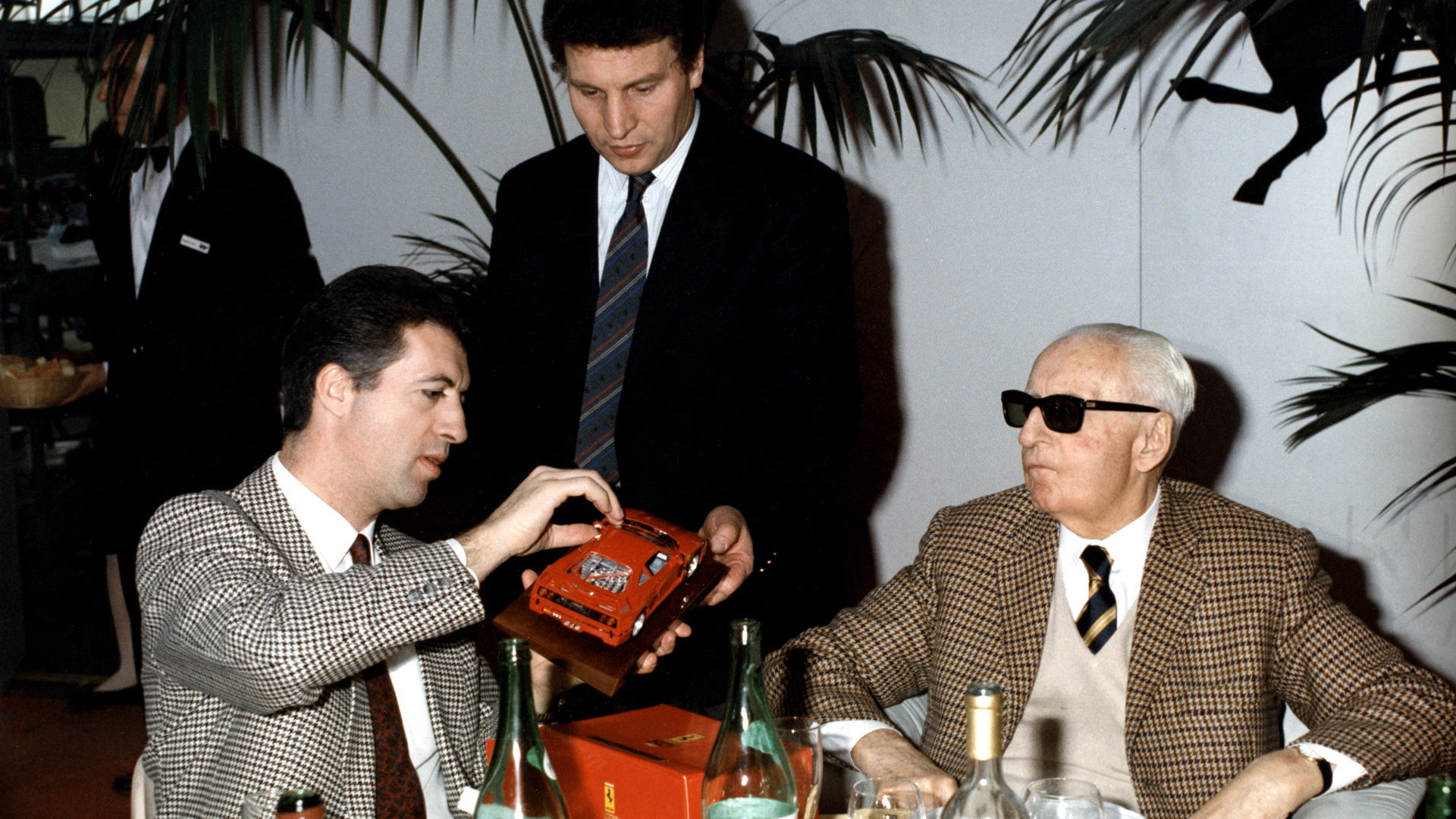 Piero and Enzo Ferrari at the Ferrari F40 debut - July 21, 1987