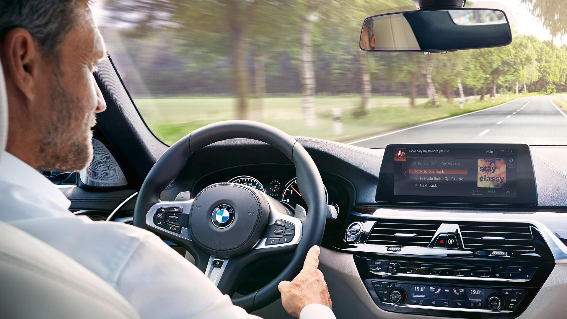 BMW with Alexa integration