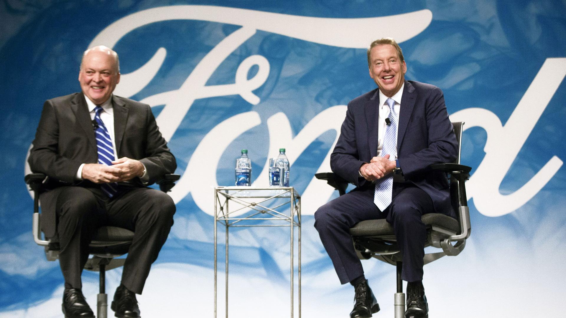 Jim Hackett (left) and Bill Ford Jr.