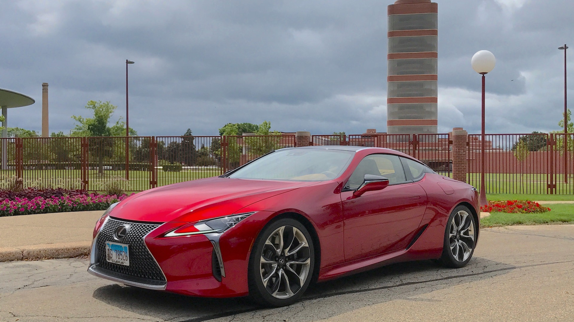 2018 Lexus LC 500 at the S.C. Johnson Research Tower