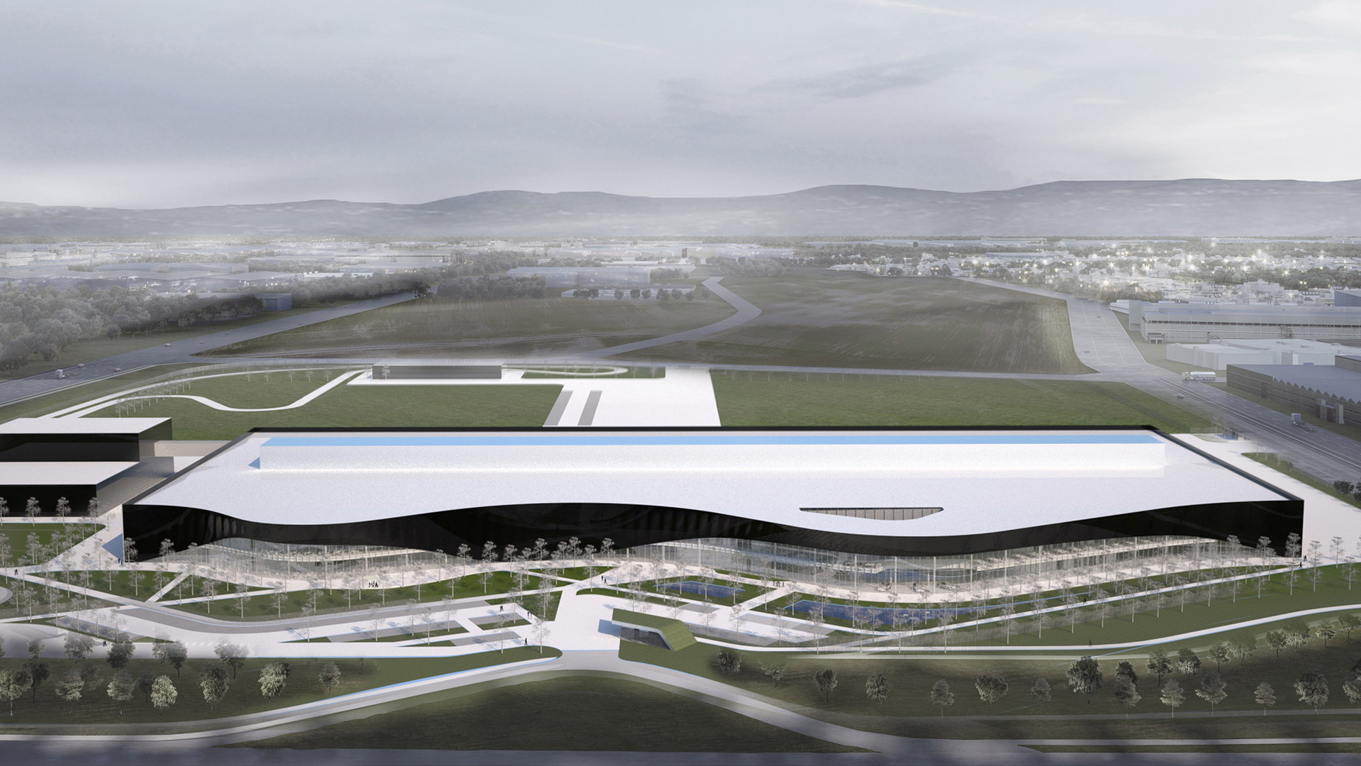 Artist's impression of the Polestar plant under construction in Chengdu, China
