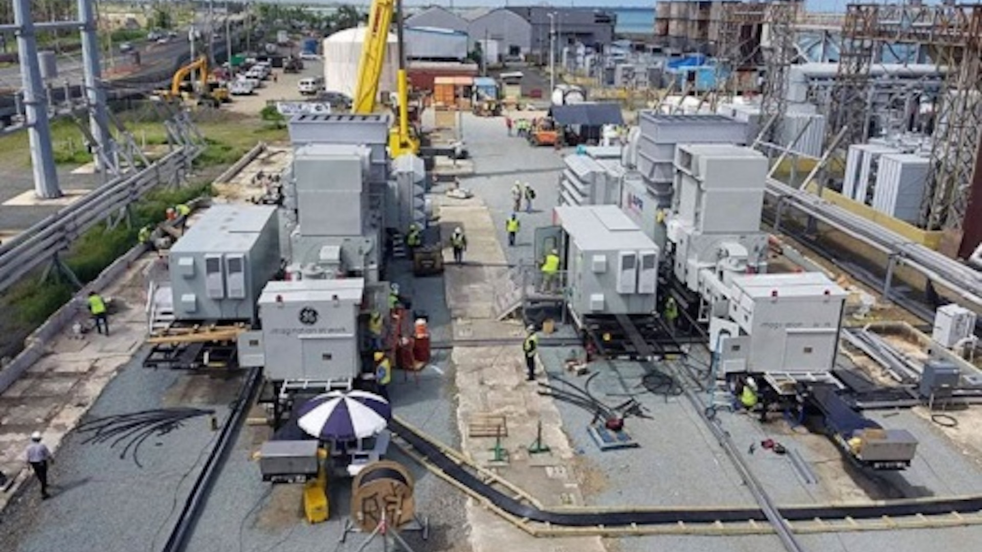 APR Energy's GE TM2500 Gen 8 mobile gas turbines in Puerto Rico