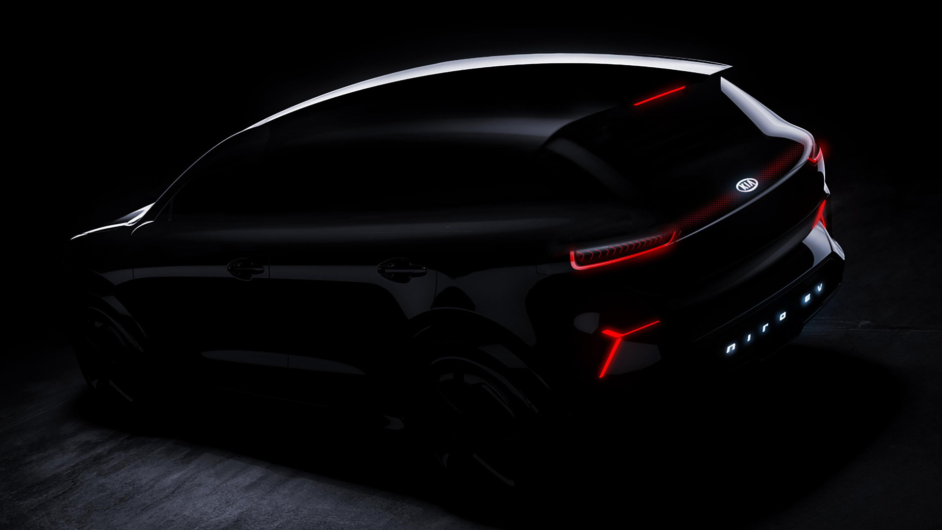 Teaser for Kia Niro EV concept debuting at 2018 Consumer Electronics Show