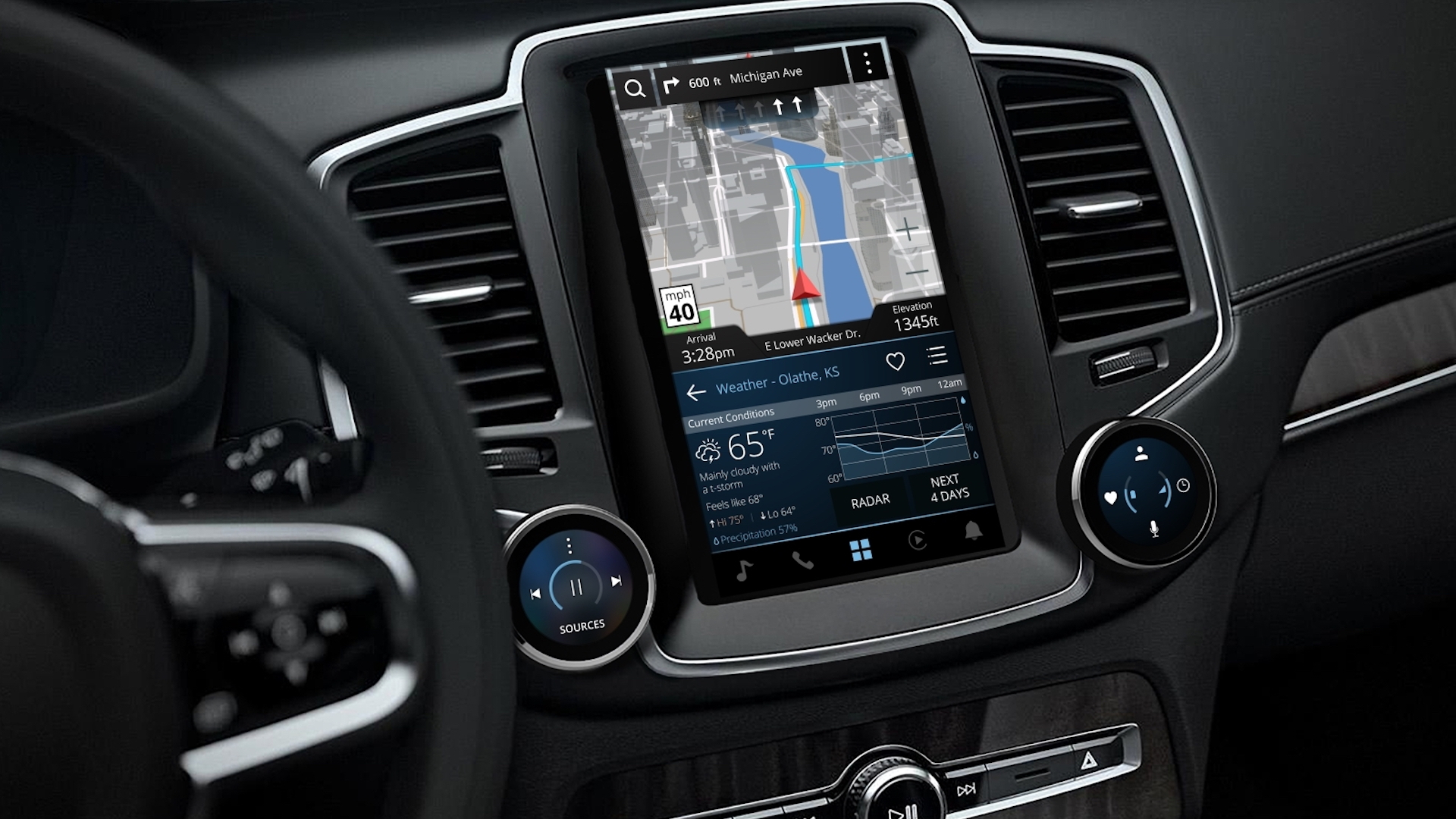 did garmin just reveal the 2020 volvo s60  v60 interior