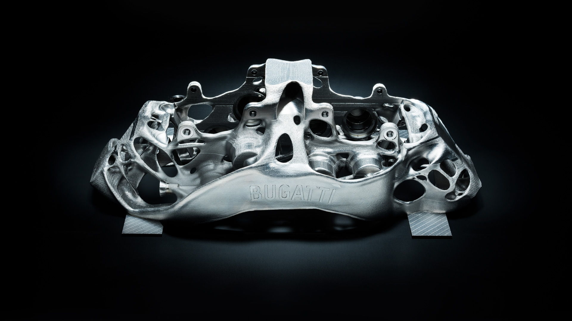Bugatti Chiron brake caliper made using 3D printing