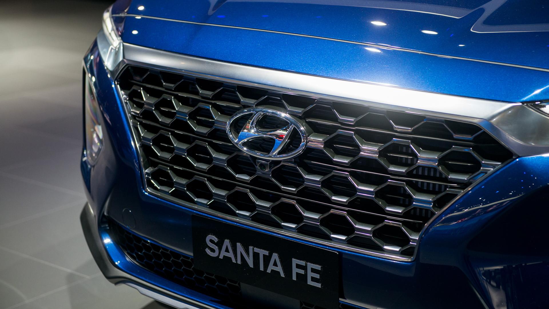 2019 Hyundai Santa Fe, 2018 New York auto show
