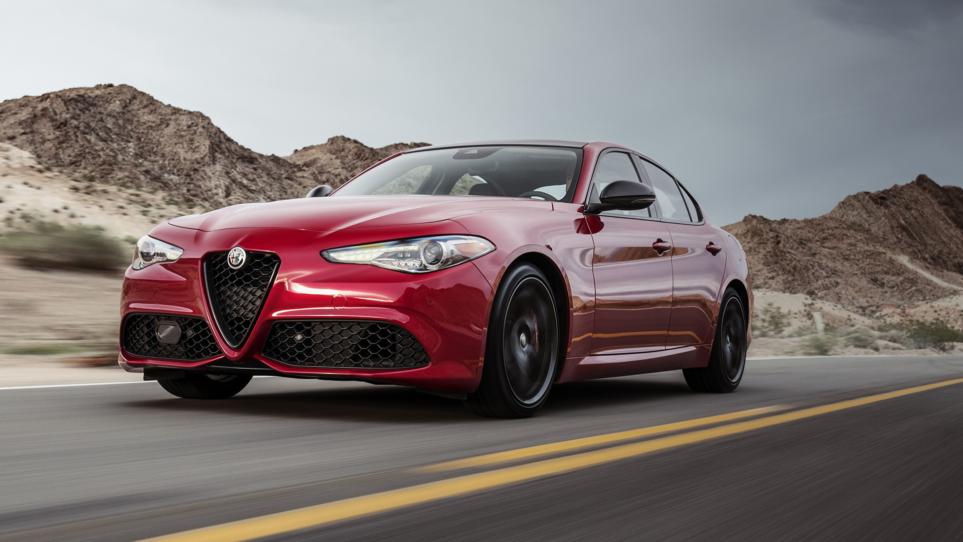 2019 Alfa Romeo Giulia equipped with Nero Edizione package