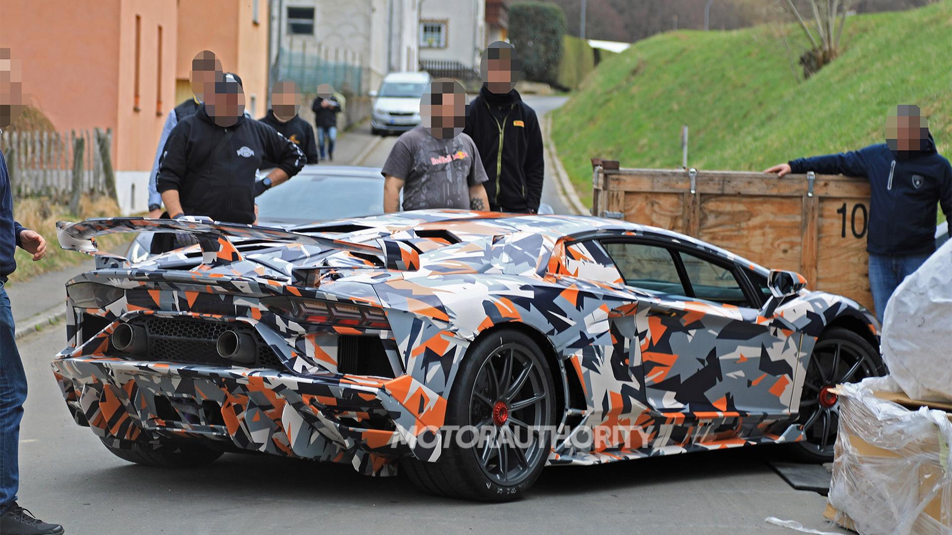 2020 Lamborghini Aventador SVJ spy shots - Image via S. Baldauf/SB-Medien