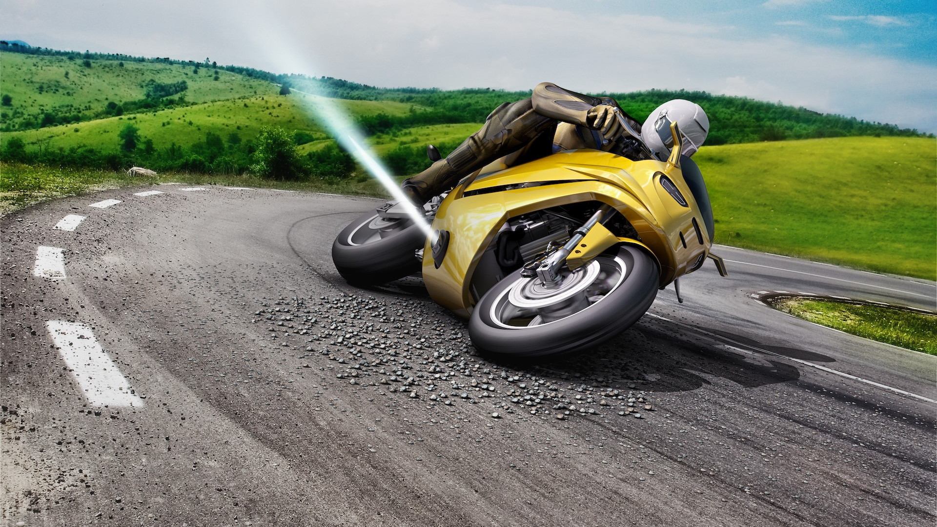 Bosch working on air jets to stop motorcycle crashes