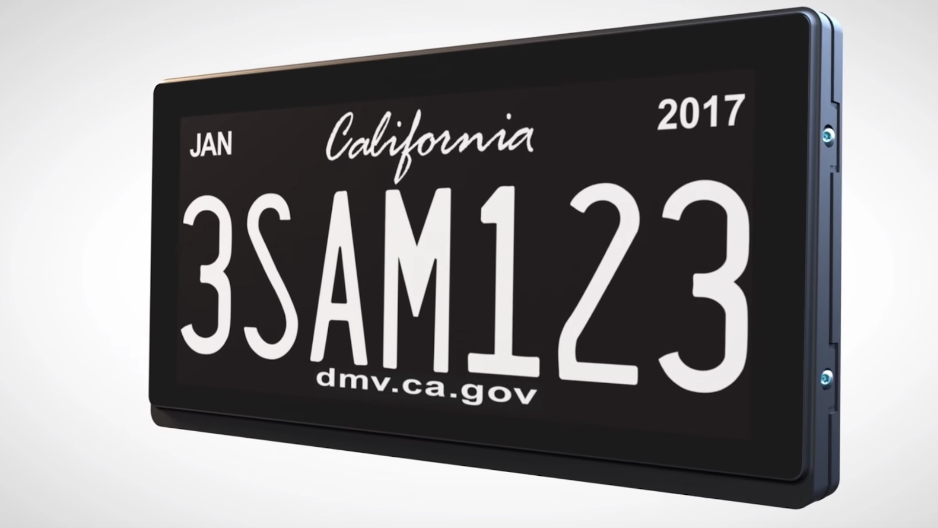 California digital license plate