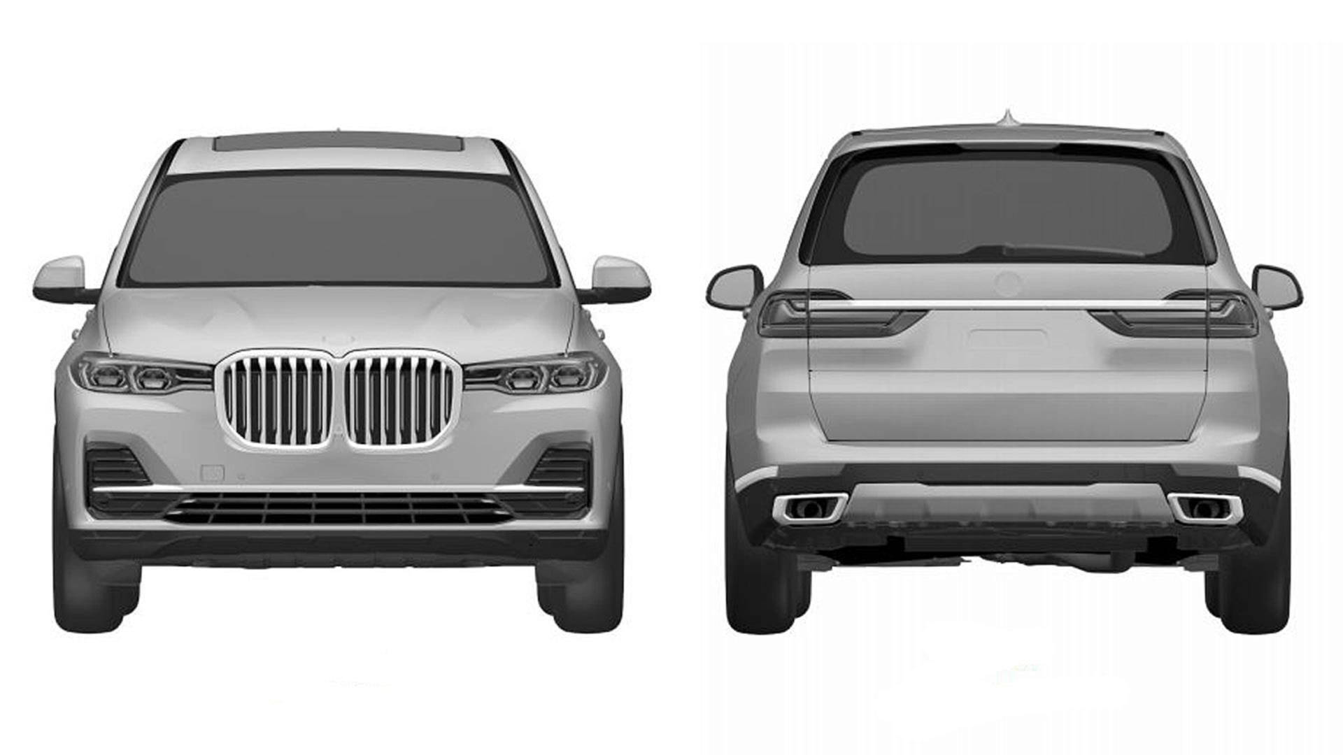 BMW X7 patent drawing