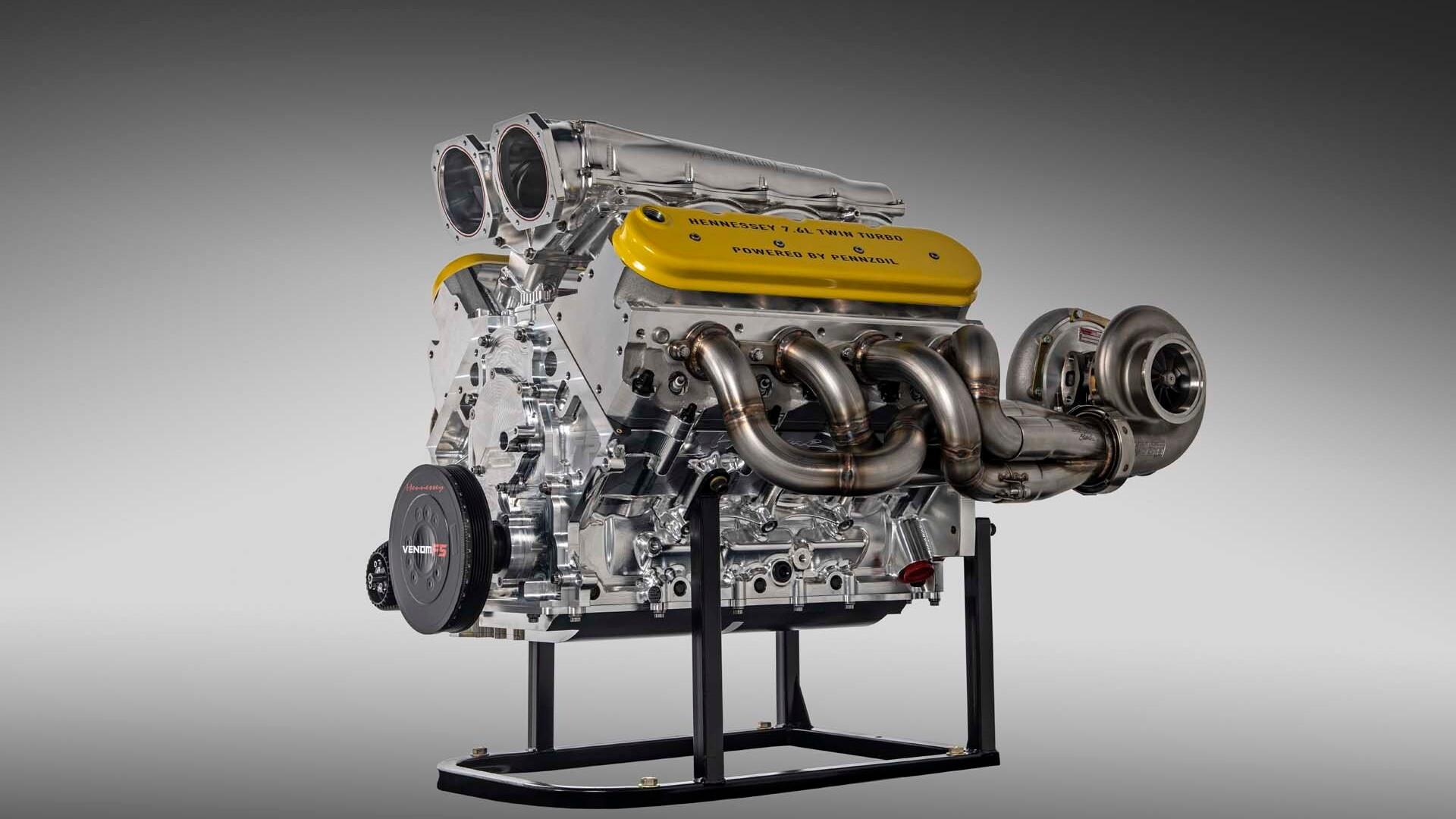 Hennessey Venom F5 7.6-liter twin-turbo V-8