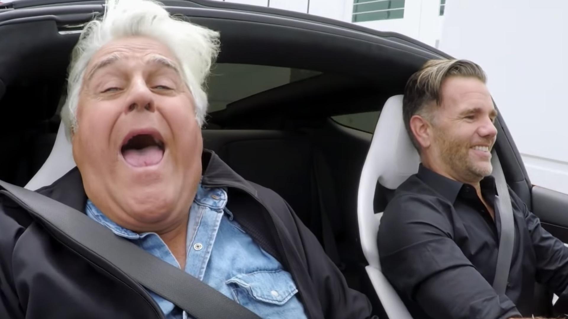Jay Leno in 2020 Tesla Roadster