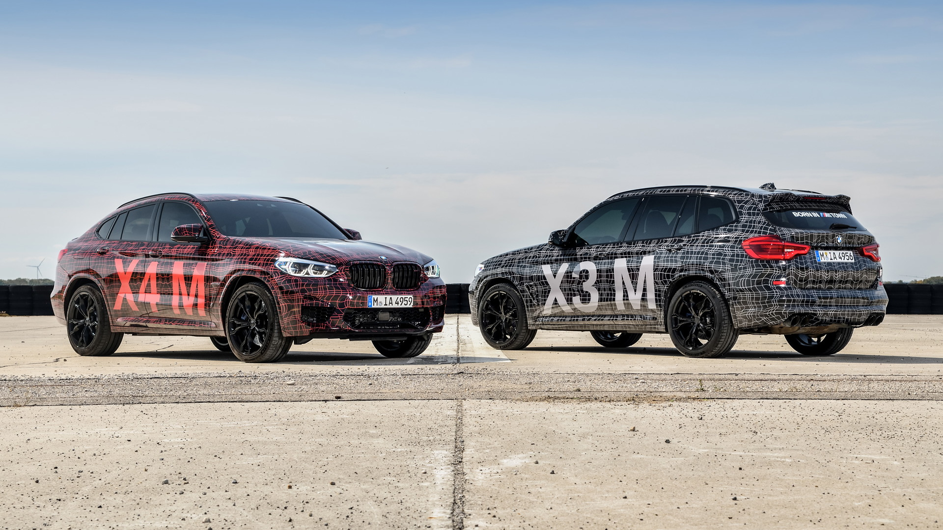 BMW X3 M and X4 M prototypes